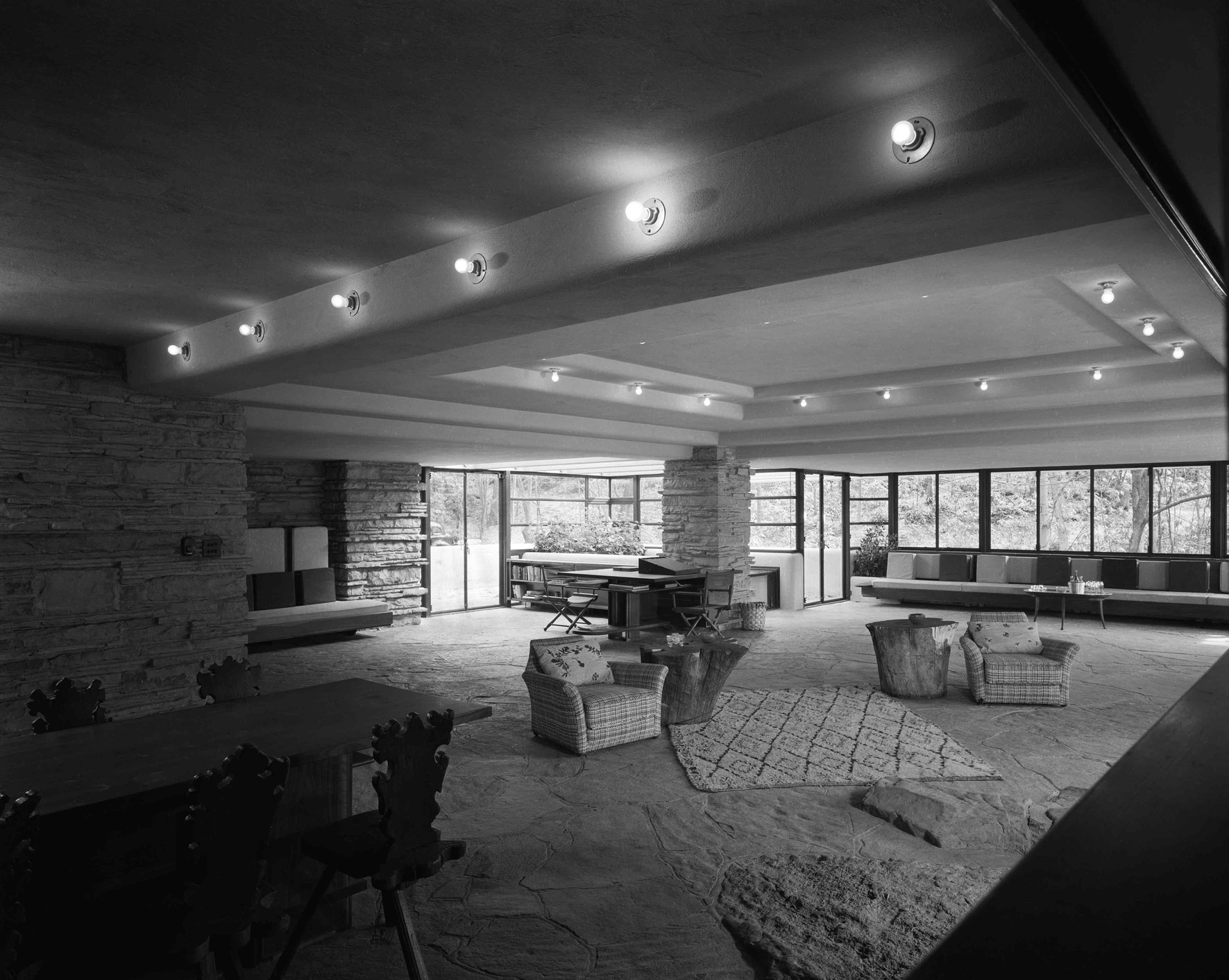 Interior view of Fallingwater / Getty Images