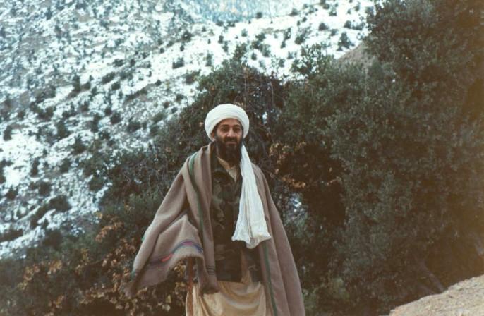 Фотография бен Ладена нагоре Тора-Бора были найдены вдоме одного изего соратников.