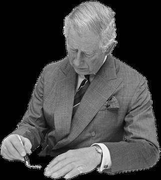Все письма принц Чарльз пишет отруки, а затем передает длянабора напечатной машинке. Когда послание возвращают наподпись, он часто добавляет втекст комментарии идополнительные восклицательные знаки. Завитиеватый почерк илюбовь кчерным чернилам опубликованные письма получили впрессе название «Записки черного паука».