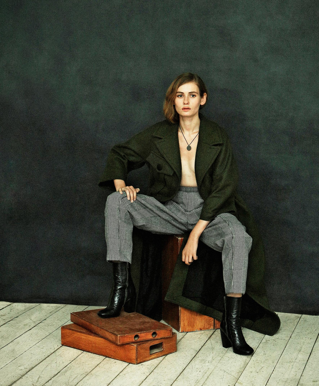 НаКристине: пальто, брюки, GUCCI обувь, ROCCO
