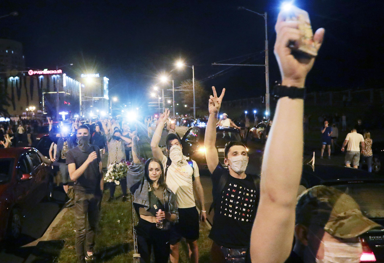 Протестующие вМинске, 10 августа.