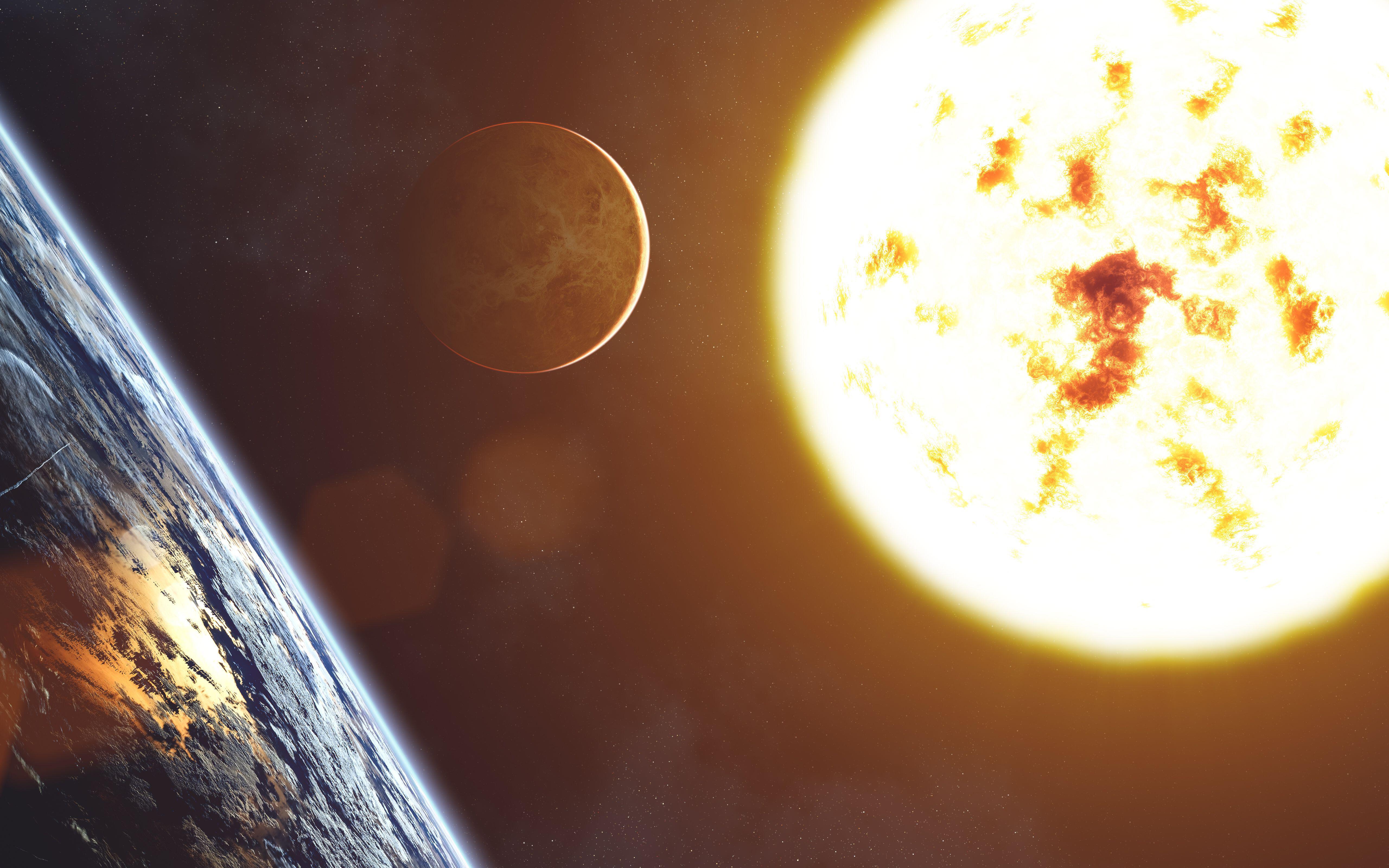 Солнечная система: солнце, Земля иВенера