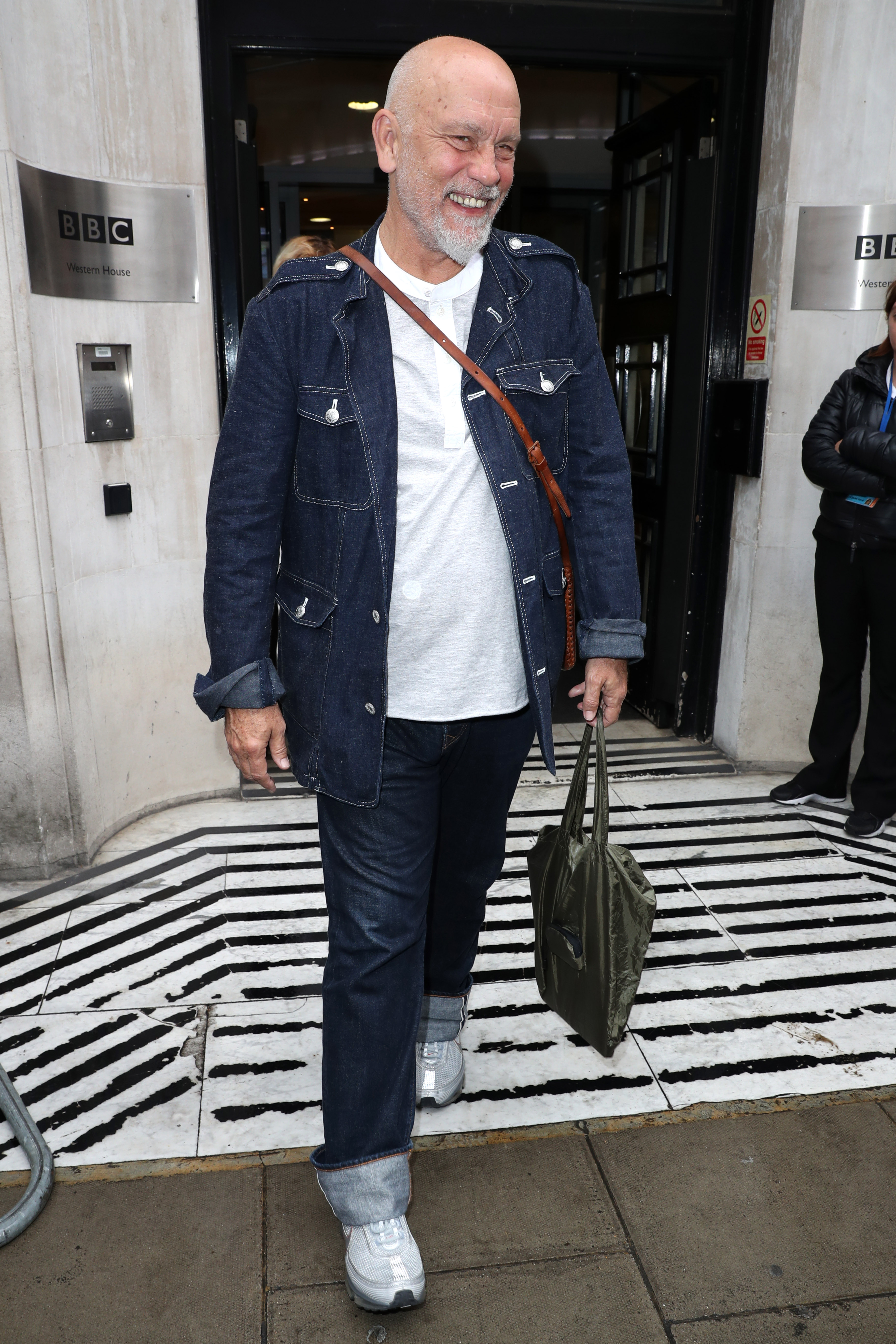 LONDON, UNITED KINGDOM - AUGUST 19: Actor John Malkovich seen leaving the BBC Radio 2 Studios on August 19, 2016 in London, England. (Photo by