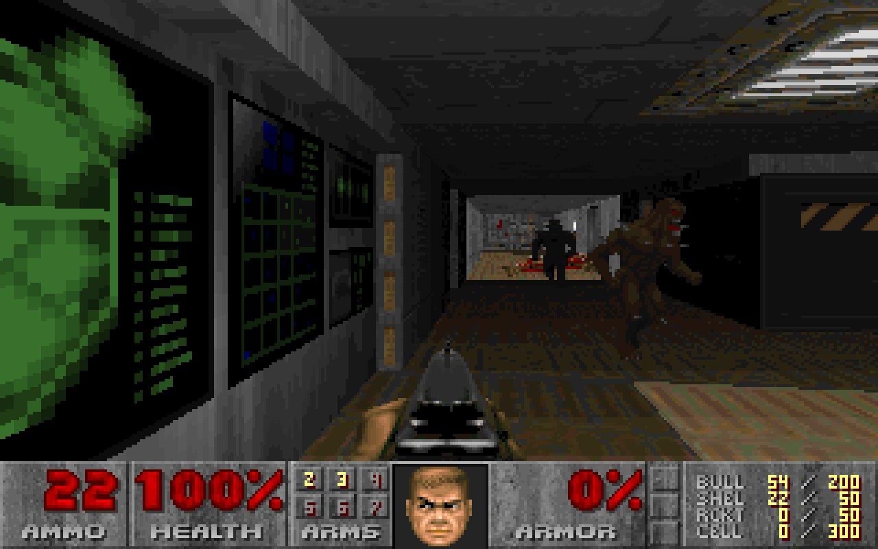 Скриншоты уровня вДуме, который задизайнил стрелок  Харрис изКолумбайна  Название уровня - U.A.C. Labs.