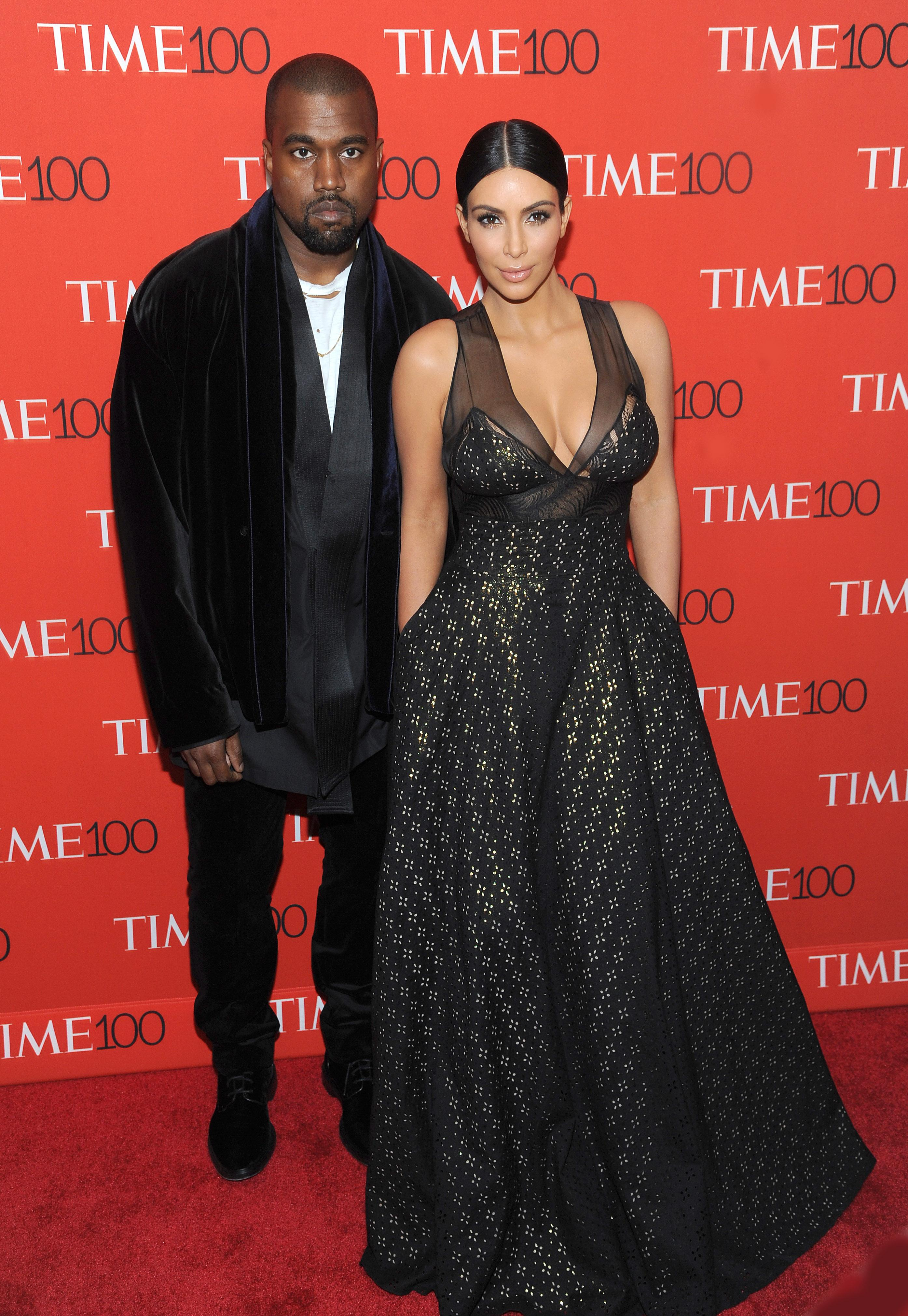 New York, NY- April 21: Kanye West And Kim Kardashian West Attend The TIME 100 Gala At The Frederick P. Rose Hall On April 21, 2015 In New York City.КРЕДИТ Capital Pictures/Legion Media