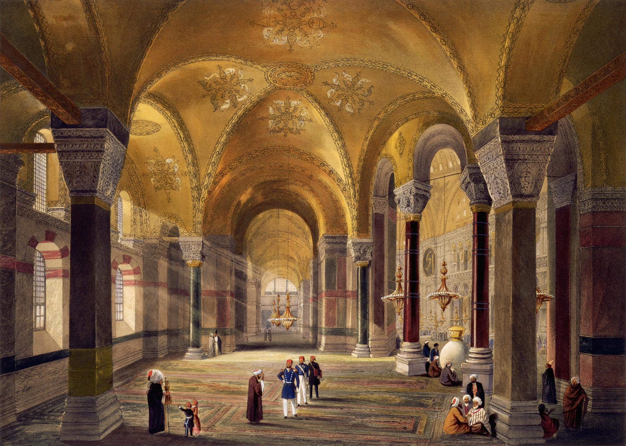 Собор Святой Софии, начало 19 века, цветная литография