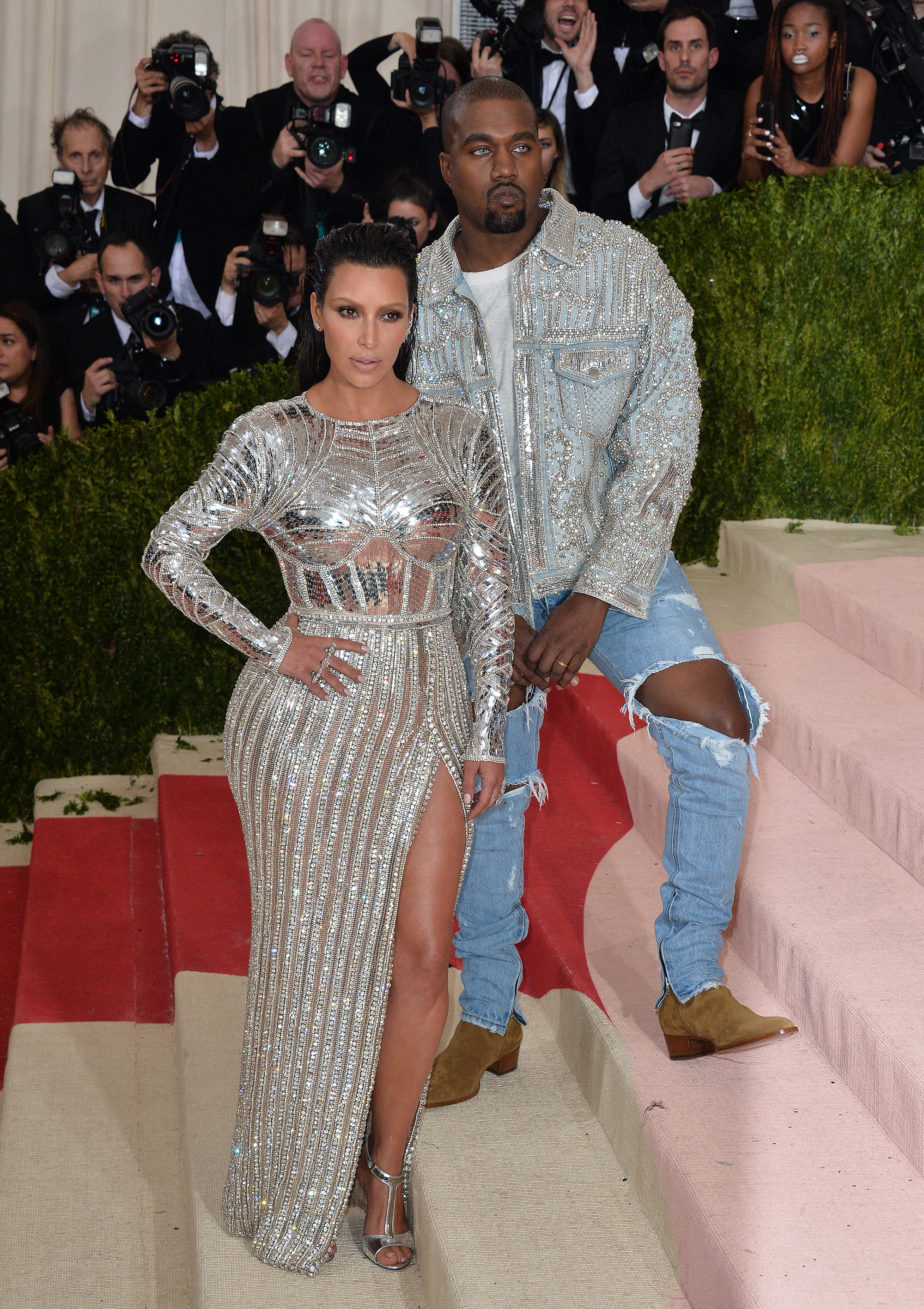 File Photo Of Kim Kardashian And Kanye West Attend The Manus X Machina: Fashion In An Age Of Technology Costume Institute Benefit Gala At Metropolitan Museum Of Art On May 2, 2016 In New York City, NY, USA. КРЕДИТ Hahn Lionel/Abaca/Sipa USA/Legion Media