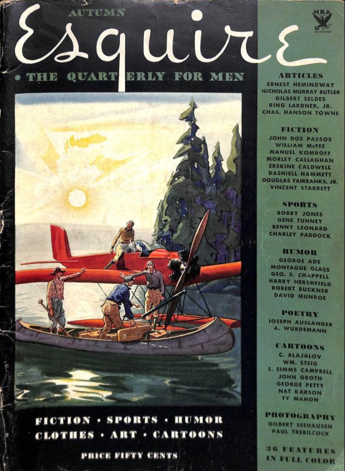 Первый номер Esquire c Хэмингуэем среди авторов