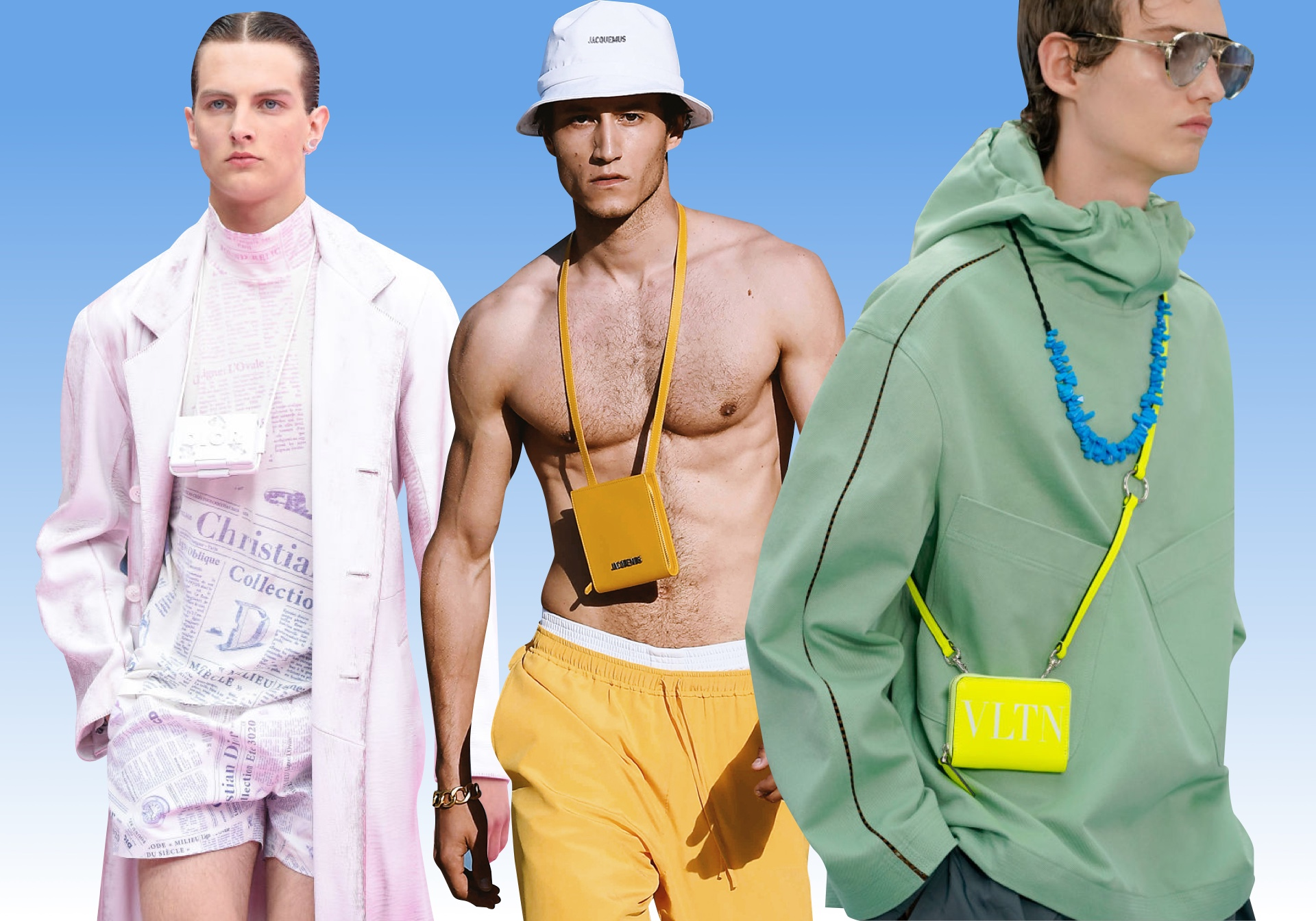 Dior Homme весна-лето 2020, Jacquemus Homme весна-лето 2019, Valentino menswear весна-лето 2020