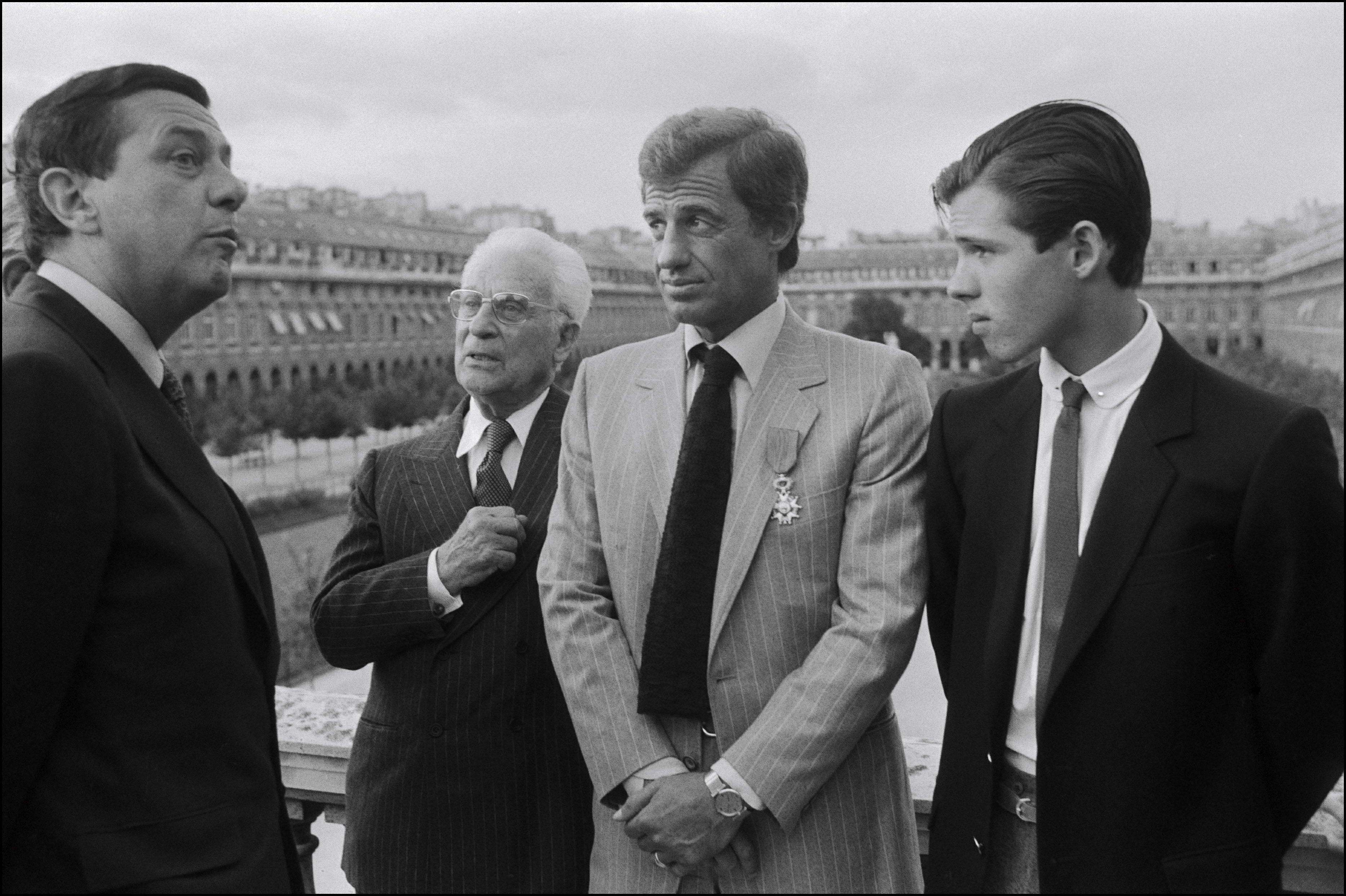Поль, Жан-Поль иПоль Бельмондо-младший вПариже, сентябрь 1980 года.
