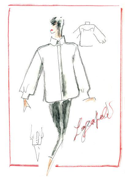 Эскиз Карла Лагерфельда, который будет использован впроекте