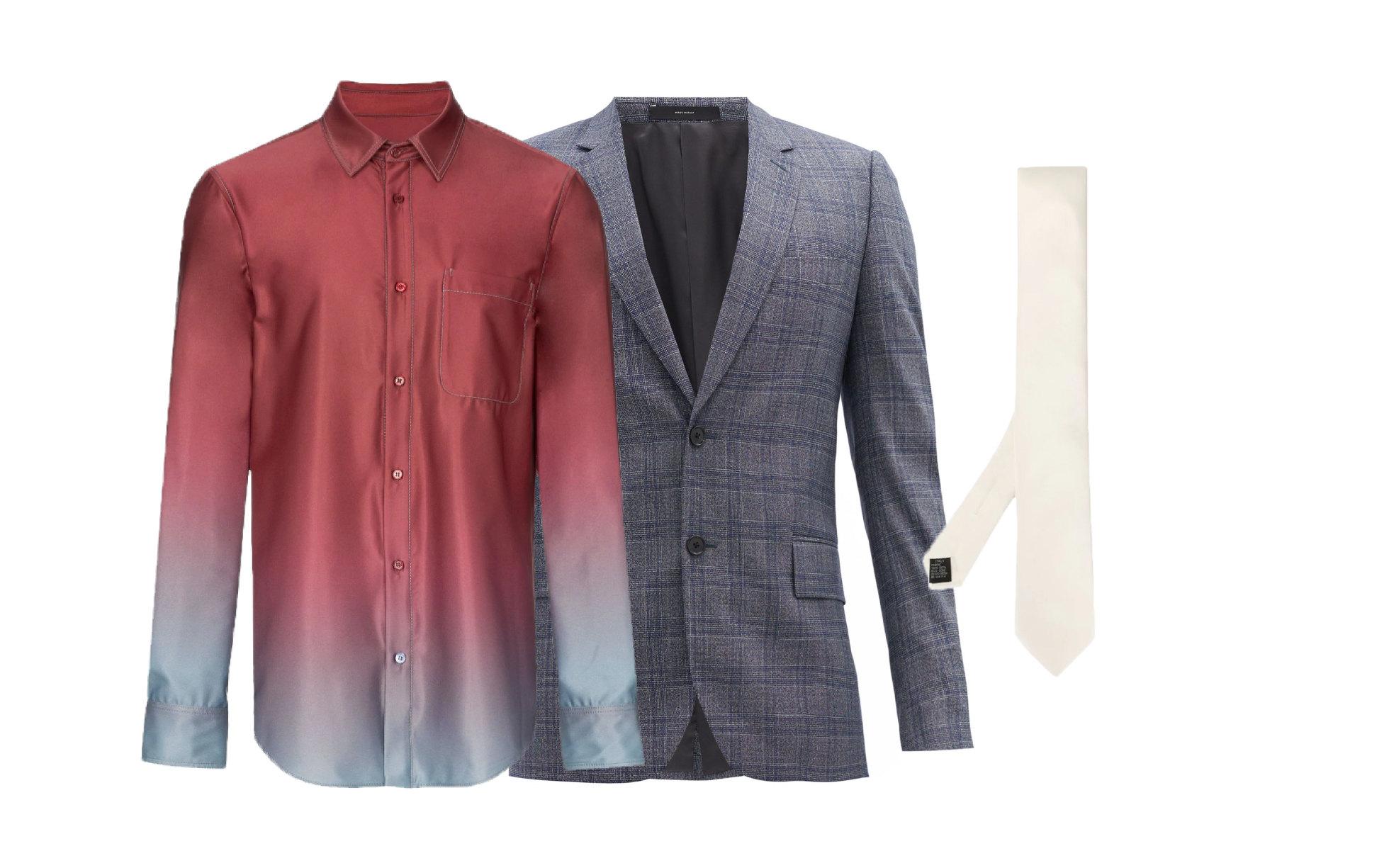 Пиджак Paul Smith, €716 ; рубашка Sies Marjan, 50 764 руб.; галстук Dolce & Gabbana, 9 897 руб.