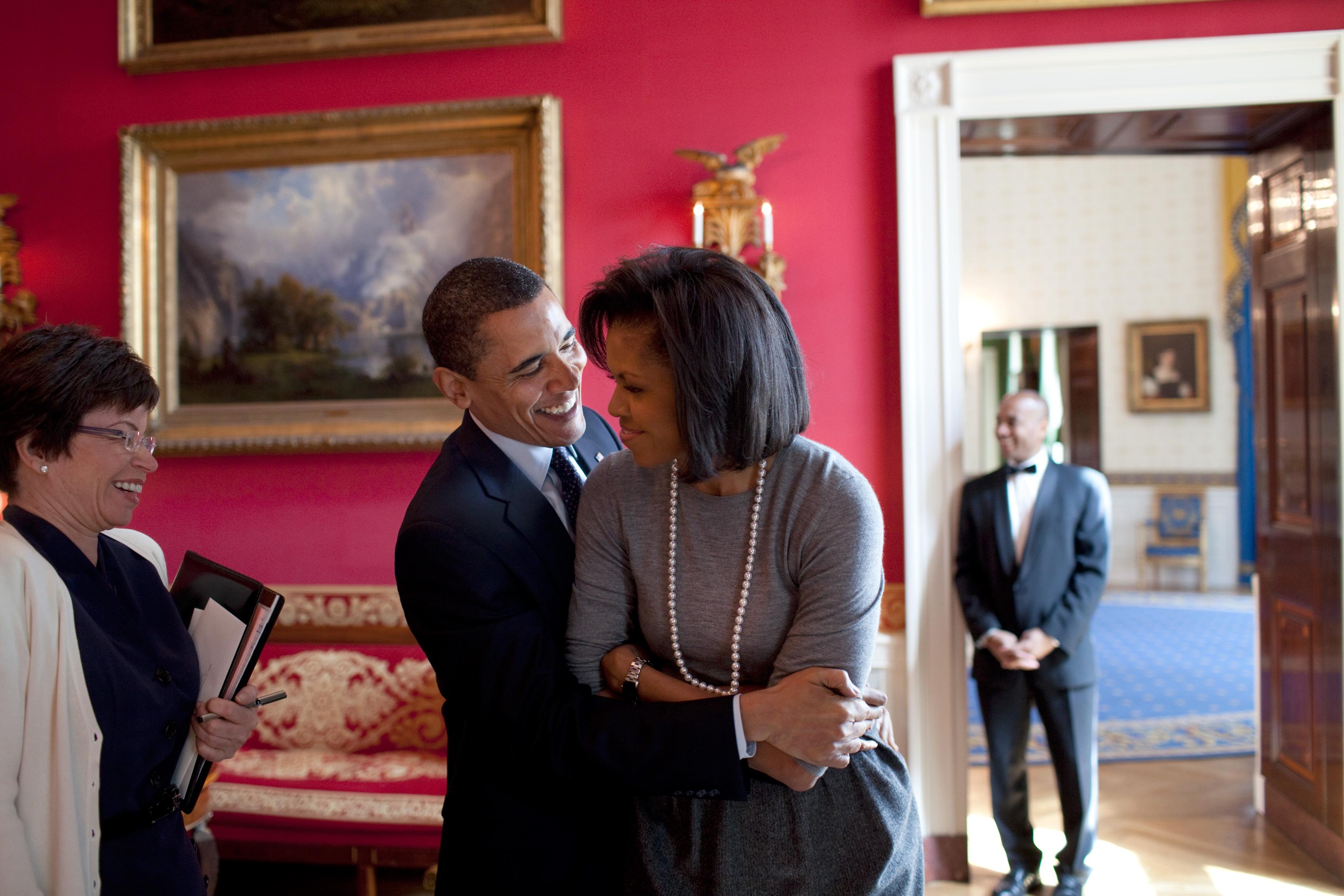 Барак иМишель Обама вВашингтоне, 2009 год.