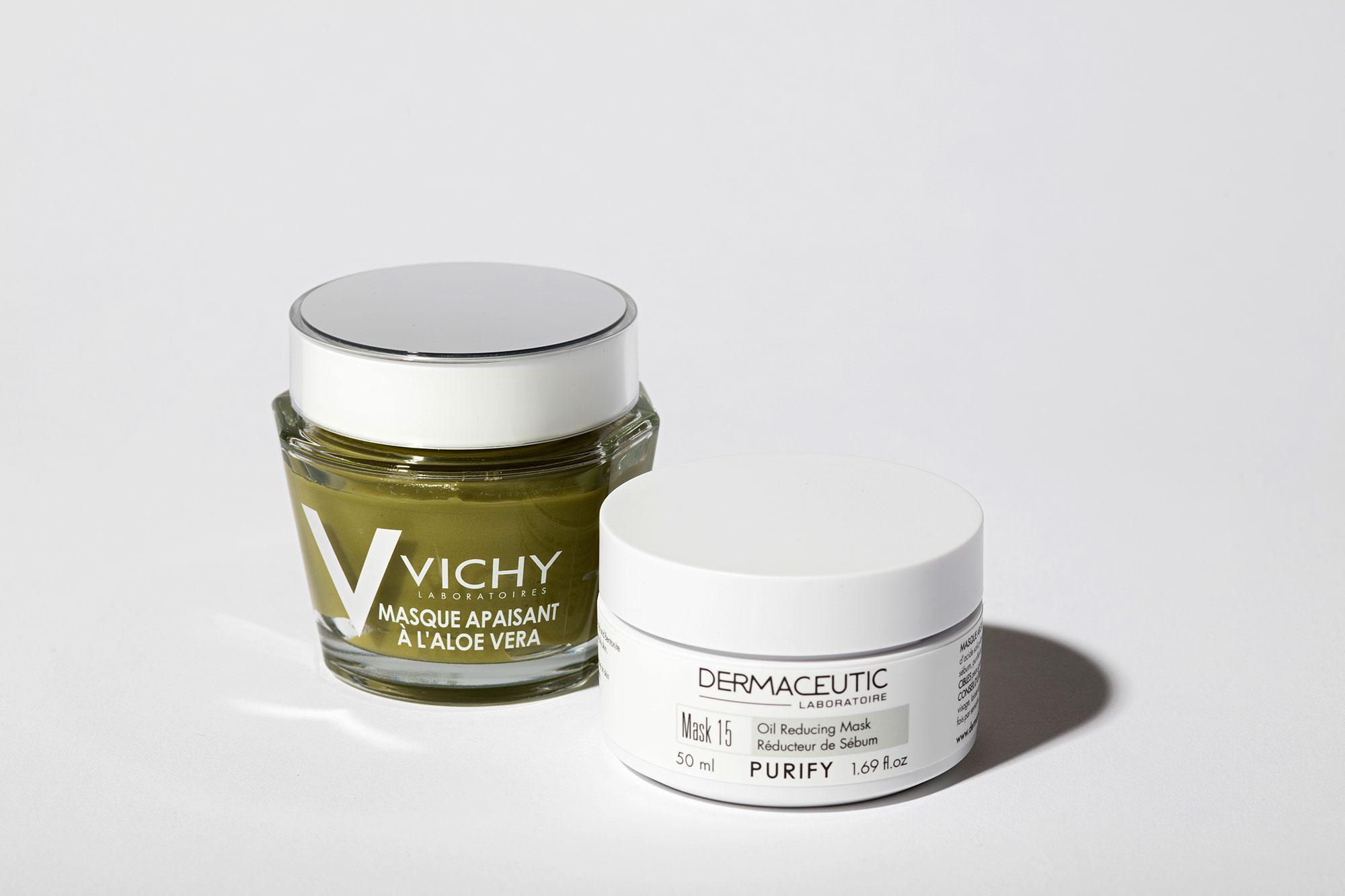 Восстанавливающая маска салоэ вера, Vichy Маска дляжирной кожи, Oil Reducing Mask 15, Dermaceutic