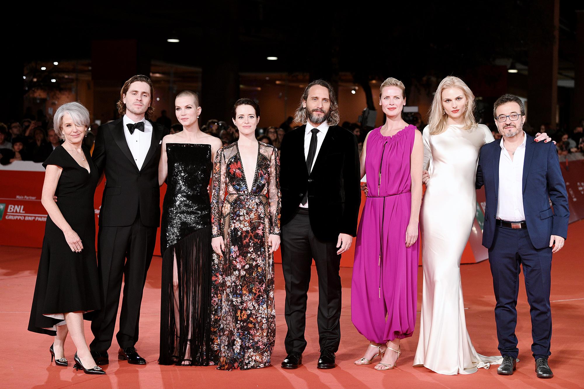 Актерский состав «Девушки...» наРимском кинофестивале, 2018