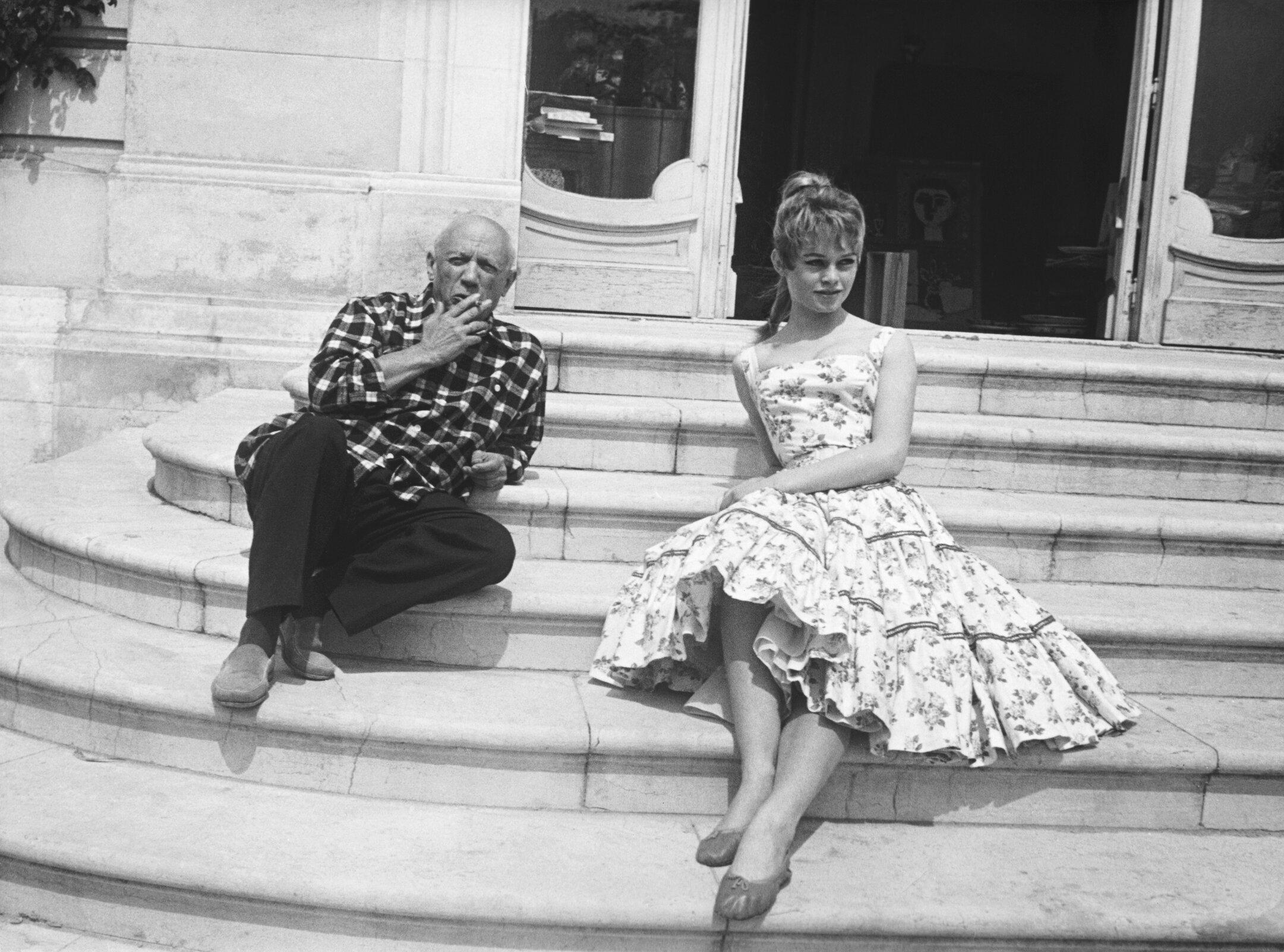 Брижит Бардо иПабло Пикассо, 1956