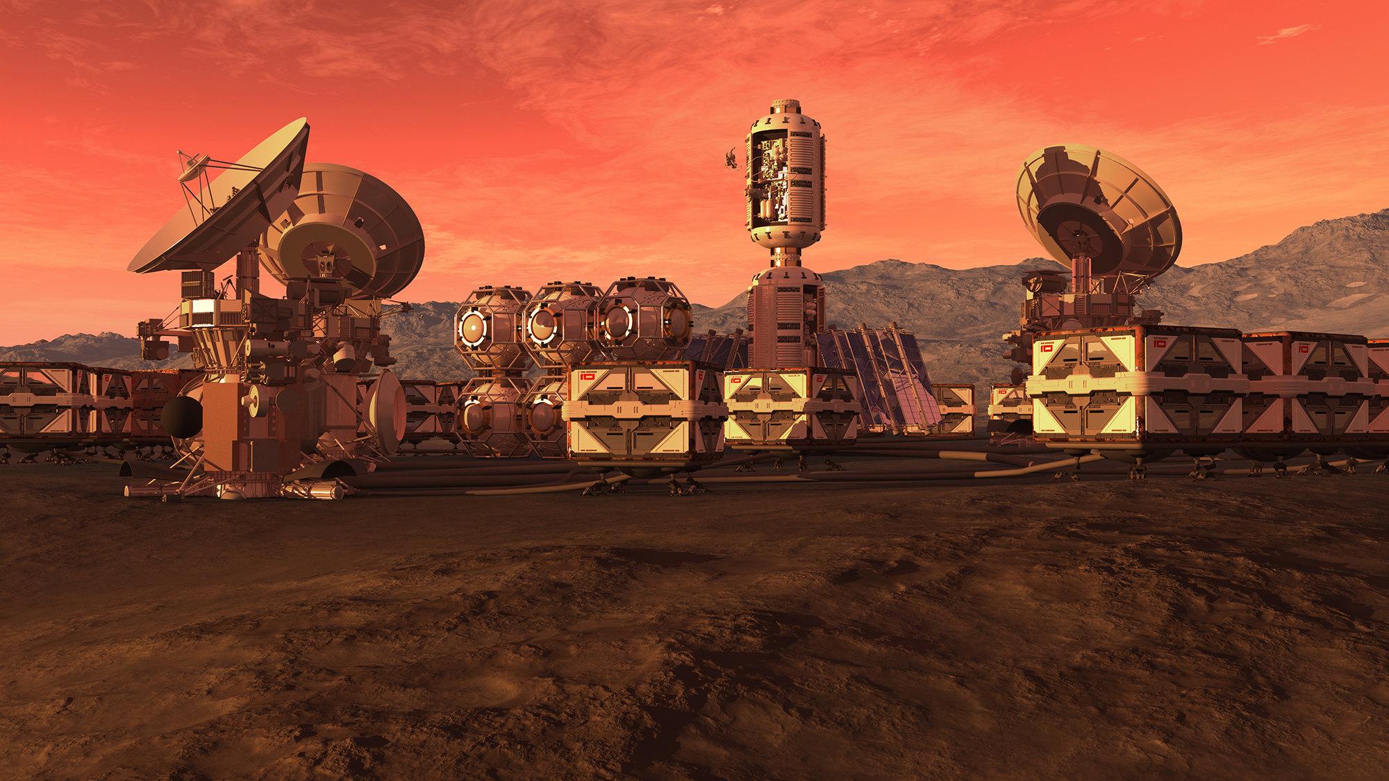 Колония наМарсе