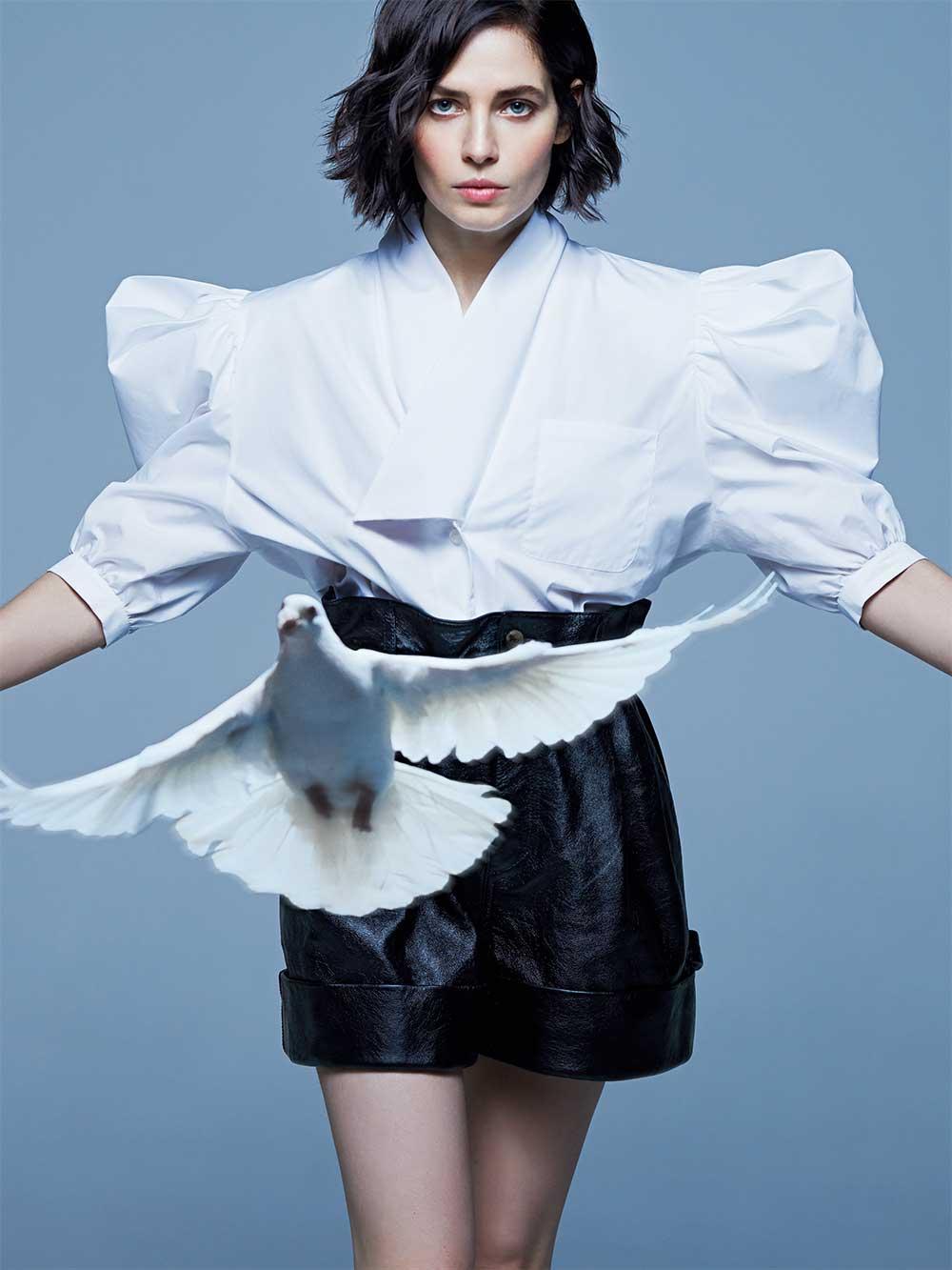 Блуза ишорты Miu Miu