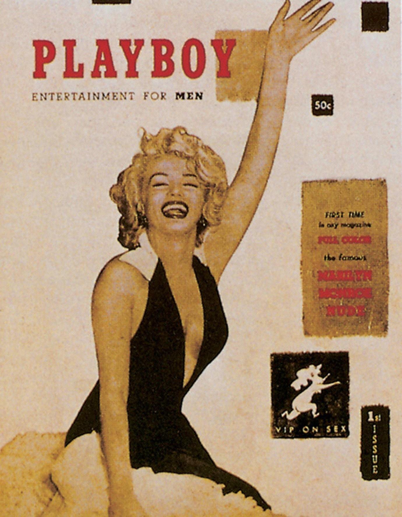 Мэрилин Монро наобложке первого номера Playboy, 1950 год