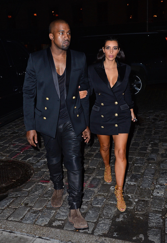 Celebrity Sightings In New York City - November 06, 2014NEW YORK, NY - NOVEMBER 06: Kanye West and Kim Kardashian arrive to Soho House New York on November 6, 2014 in New York City. (Photo by James Devaney/GC Images/Getty Images
