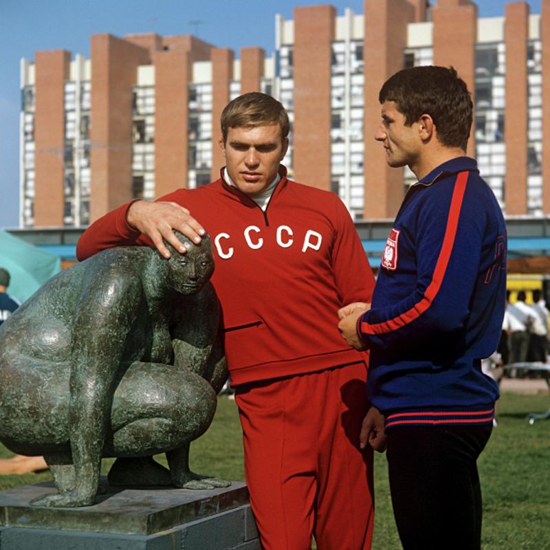 Борец Василий Меркулов наОлимпийских играх вМехико, 1968 год.