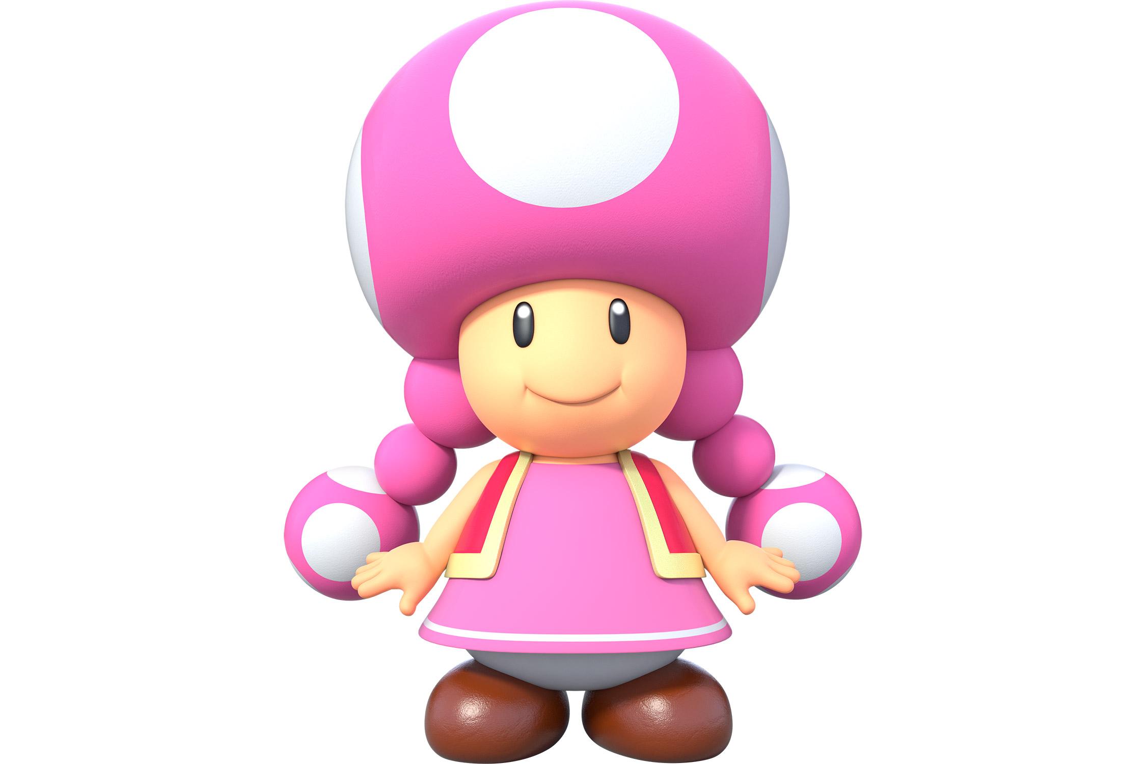 Девочка-гриб Тоадетта изSuper Mario.