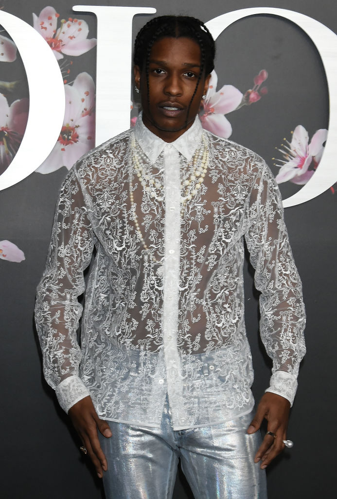 A$AP Rocky напоказе Dior
