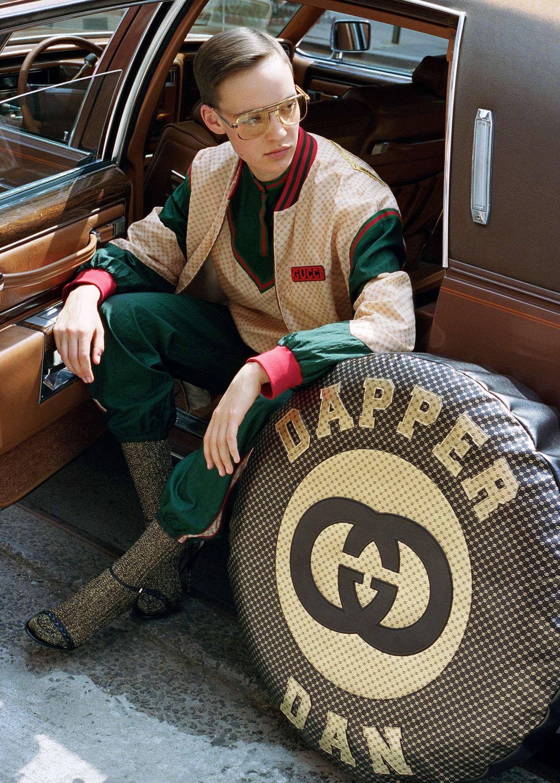 Кадр излукбука коллекции Dapper Dan x Gucci