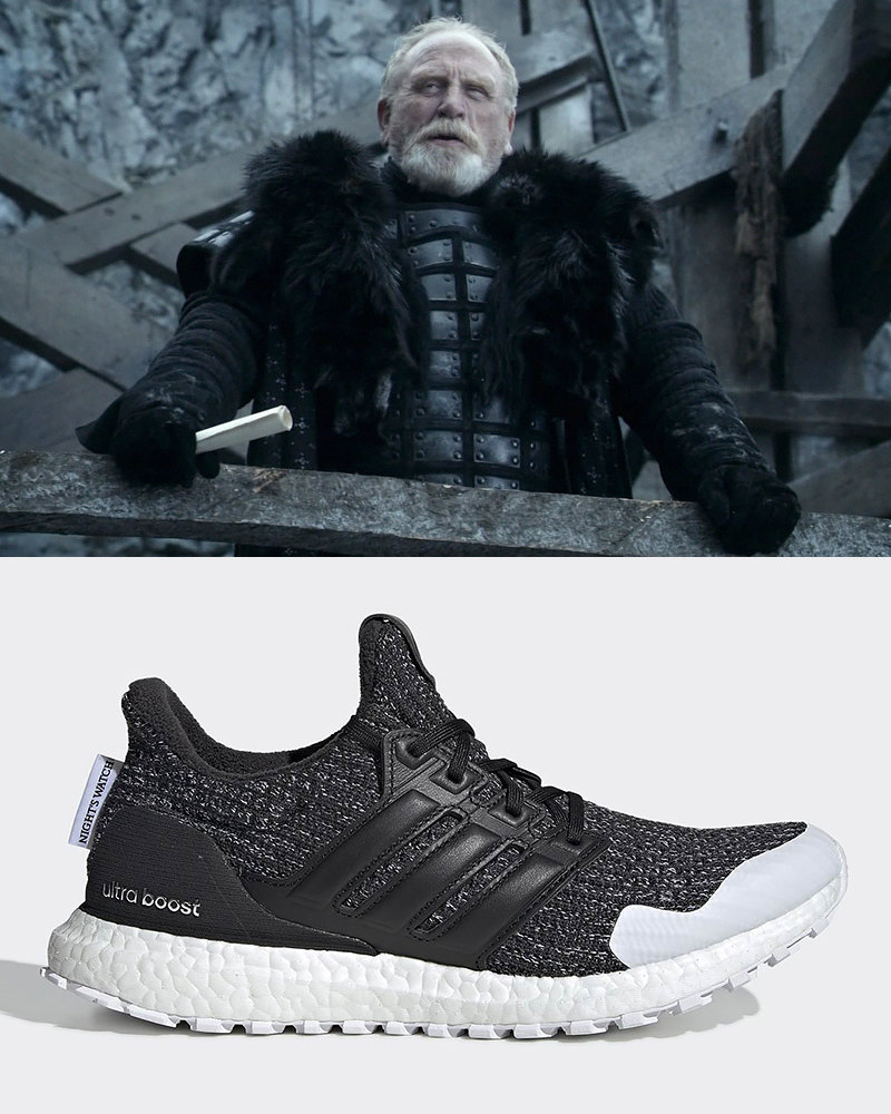 "Джиор Мормонт, 997-й Лорд-командующий Ночного дозора и adidas Ultra Boost ""The Night's Watch"""