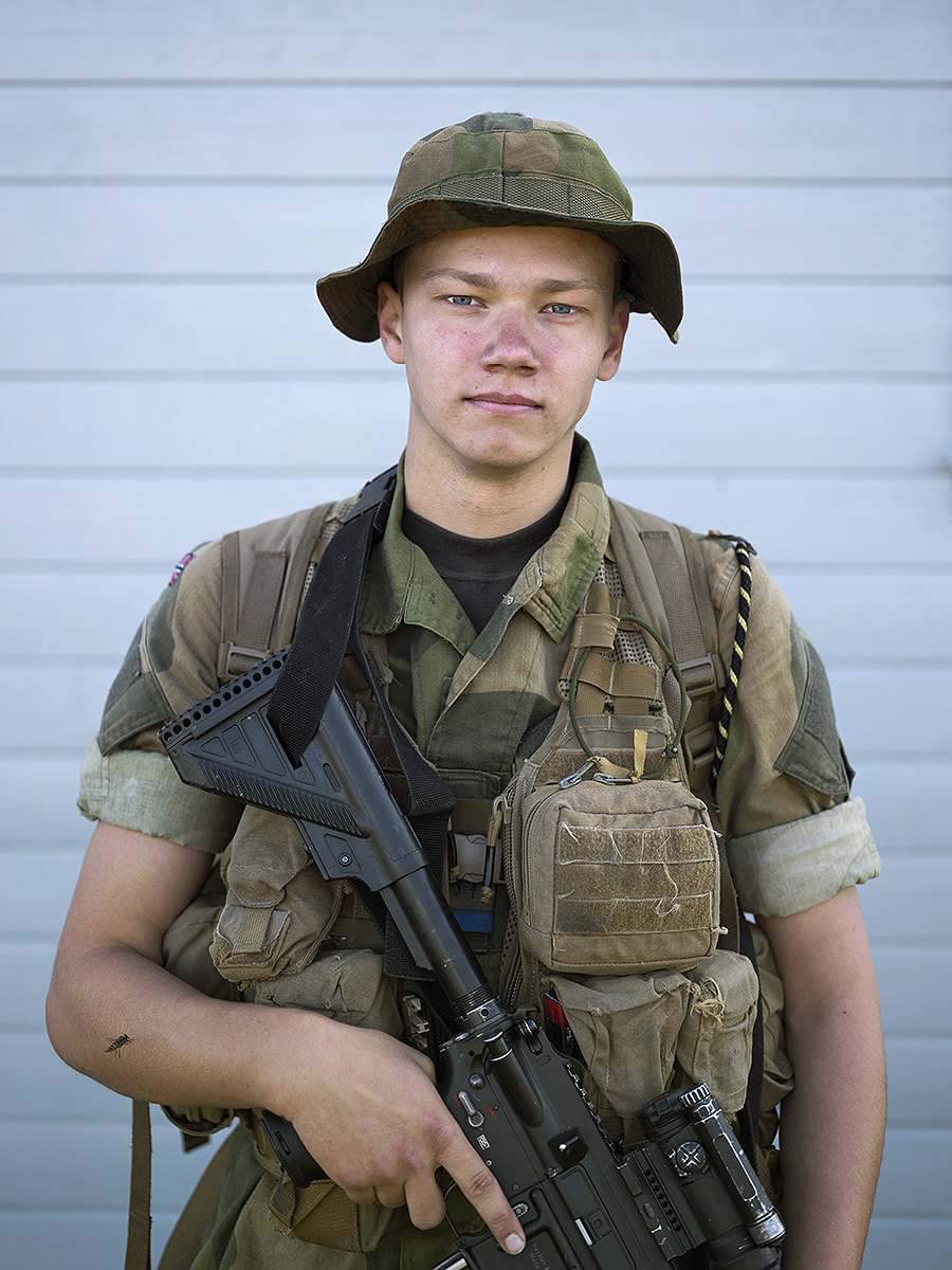 Young Norwegian conscript in charge of patrolling the banks of the Pasvik River.