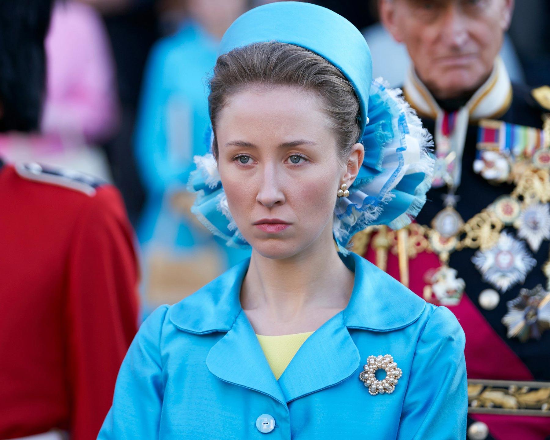 Актриса Эрин Доэрти вобразе принцессы Анны.