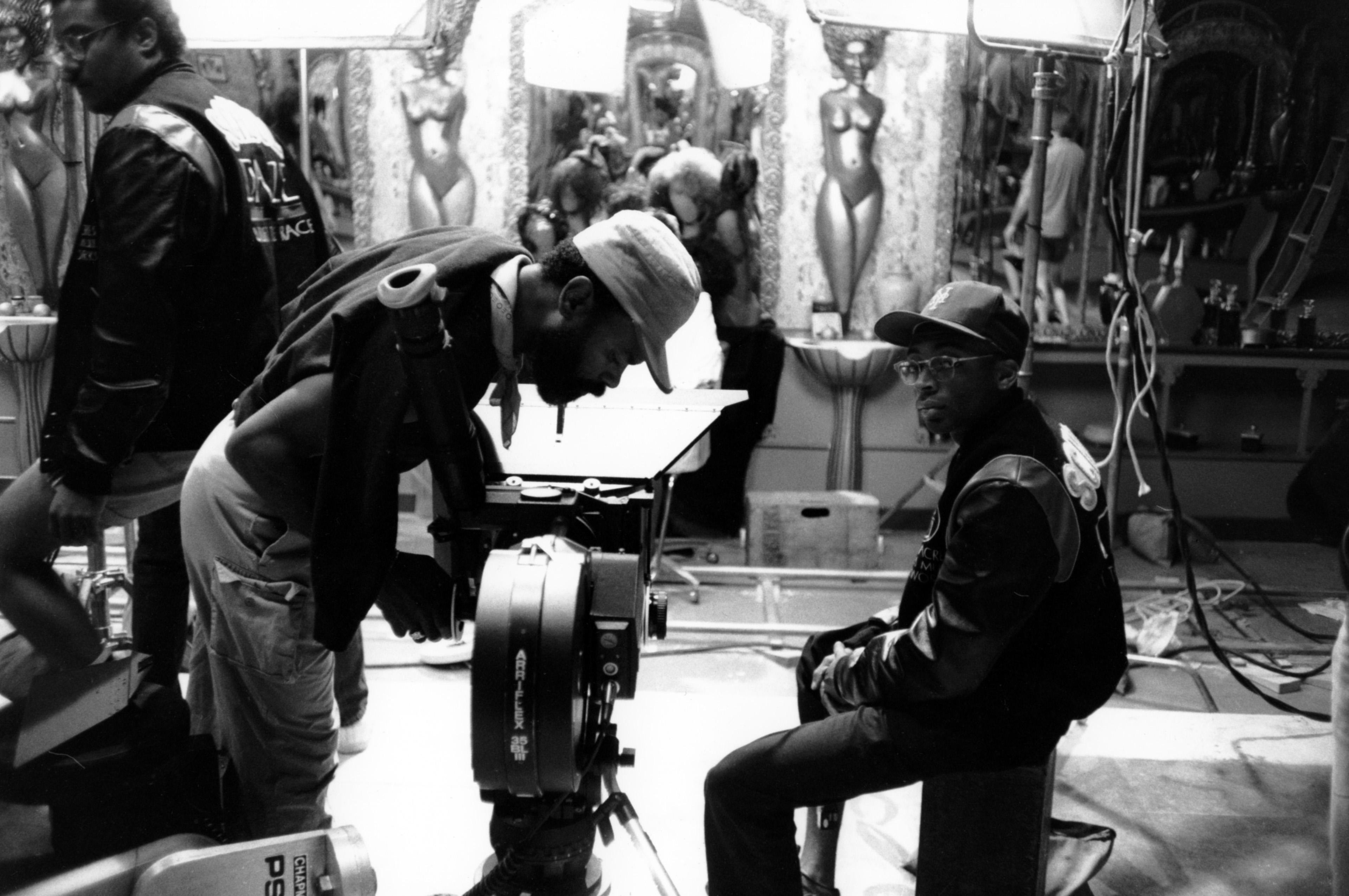 Кадр со съемок фильма «Школьные годы чудесные», 1988