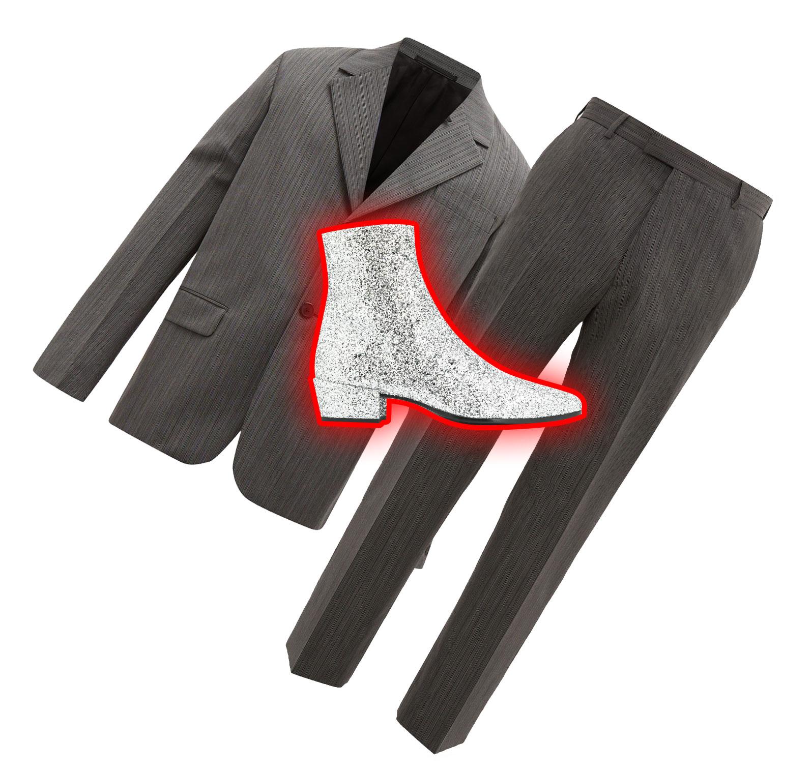 Пиджак Prada, €1620; брюки Prada, €590; обувь Saint Laurent, 59 465 рублей