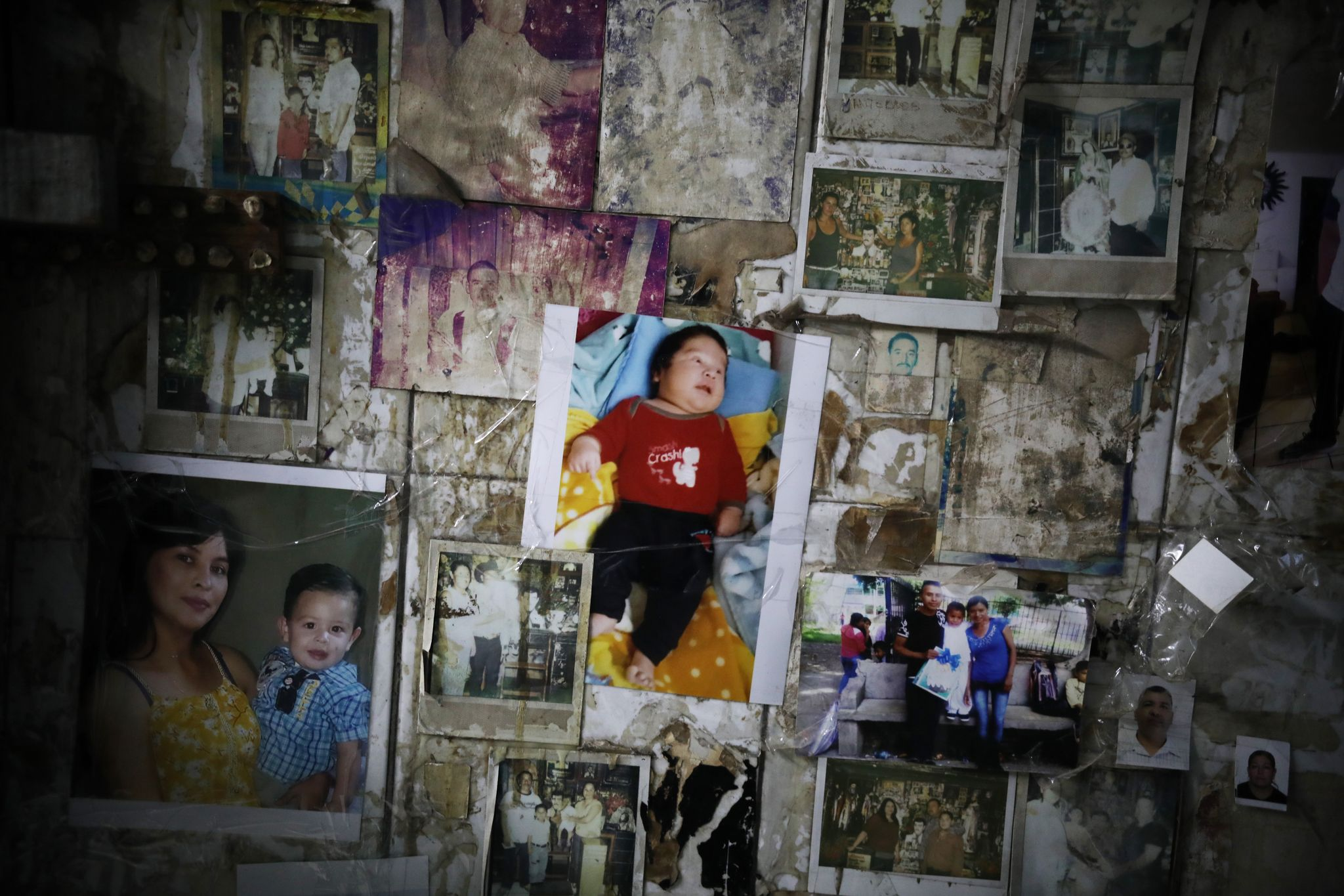Narcos paste pictures of loved ones to the walls of the Malverde shrine to ask him to protect those still living, and to bless those already dead.