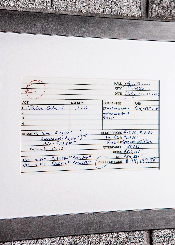 В Литице финансовые отчеты остарых работах — вроде этой изтура Питера Габриэля