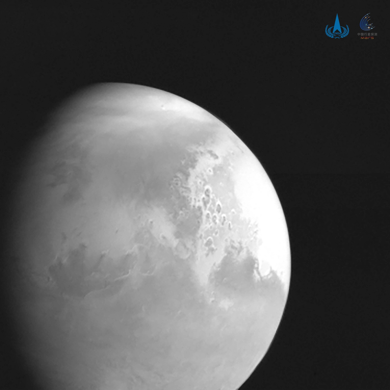 Первое фото Марса, сделанное китайской космической станцией «Тяньвэнь-1»