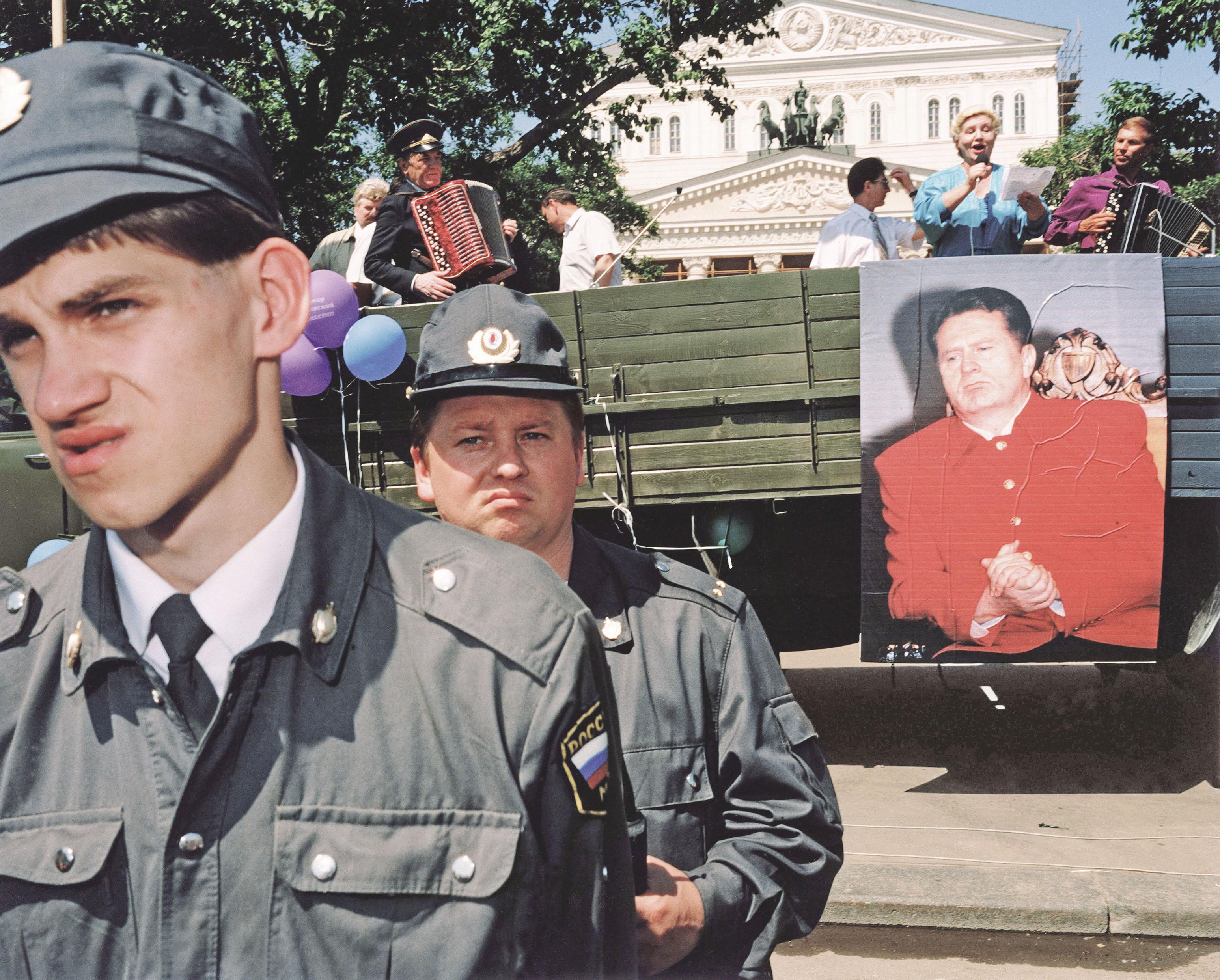 Предвыборная кампания Владимира Жириновского напрезидентских выборах. Москва, Россия, 1996