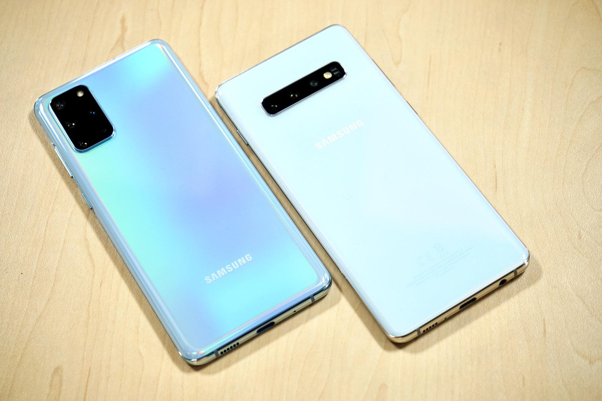 Блок камер Galaxy S20+ всравнении сS10+