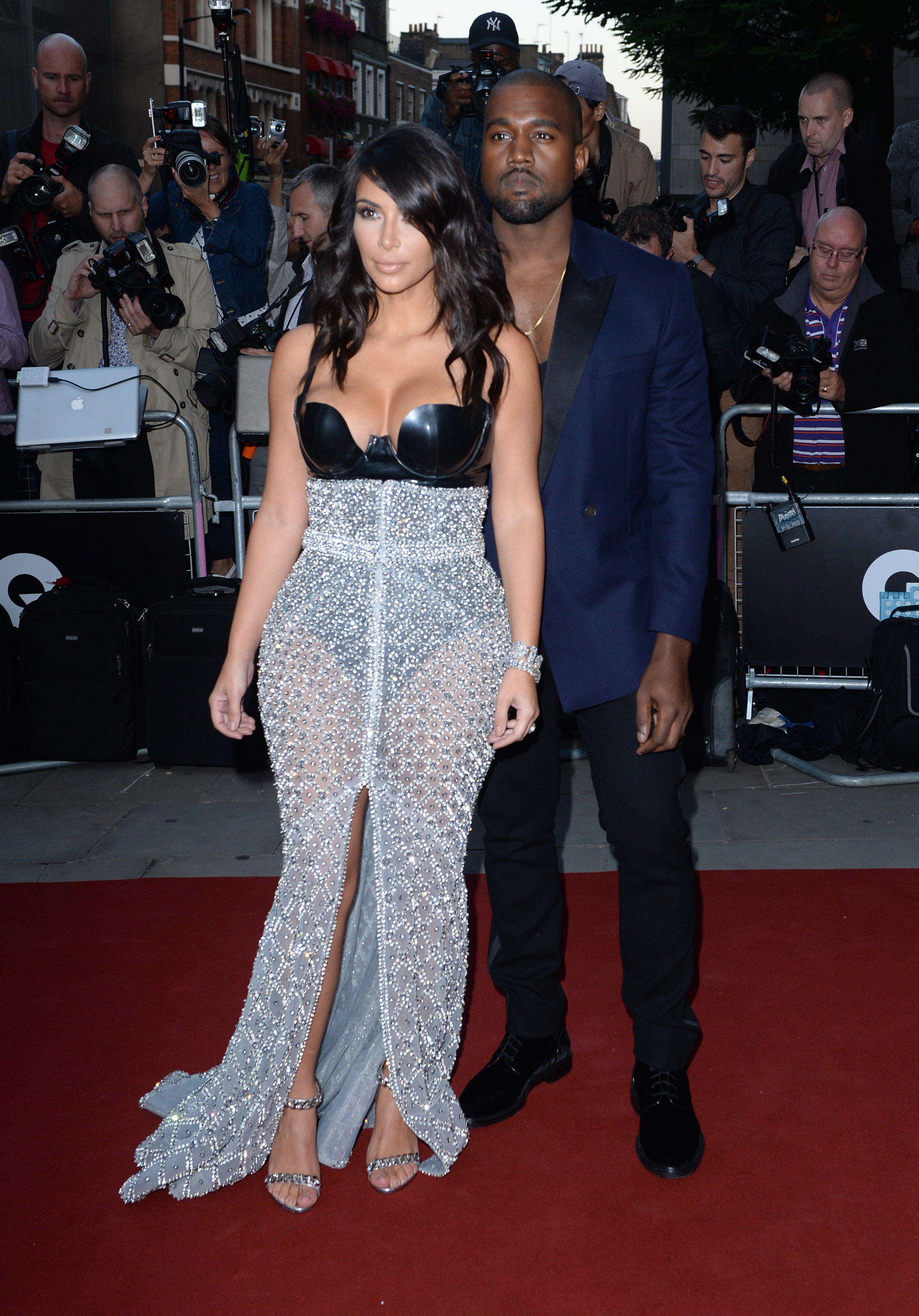 American Entrepeneur Kim Kardashian And Musician Kanye West Attend The