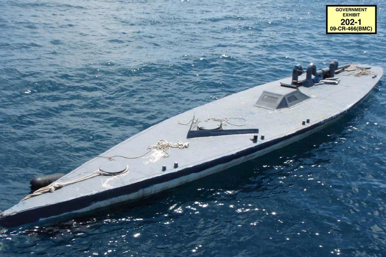 Одна изподводных лодок картеля; была захвачена береговой охраной США в2008 году
