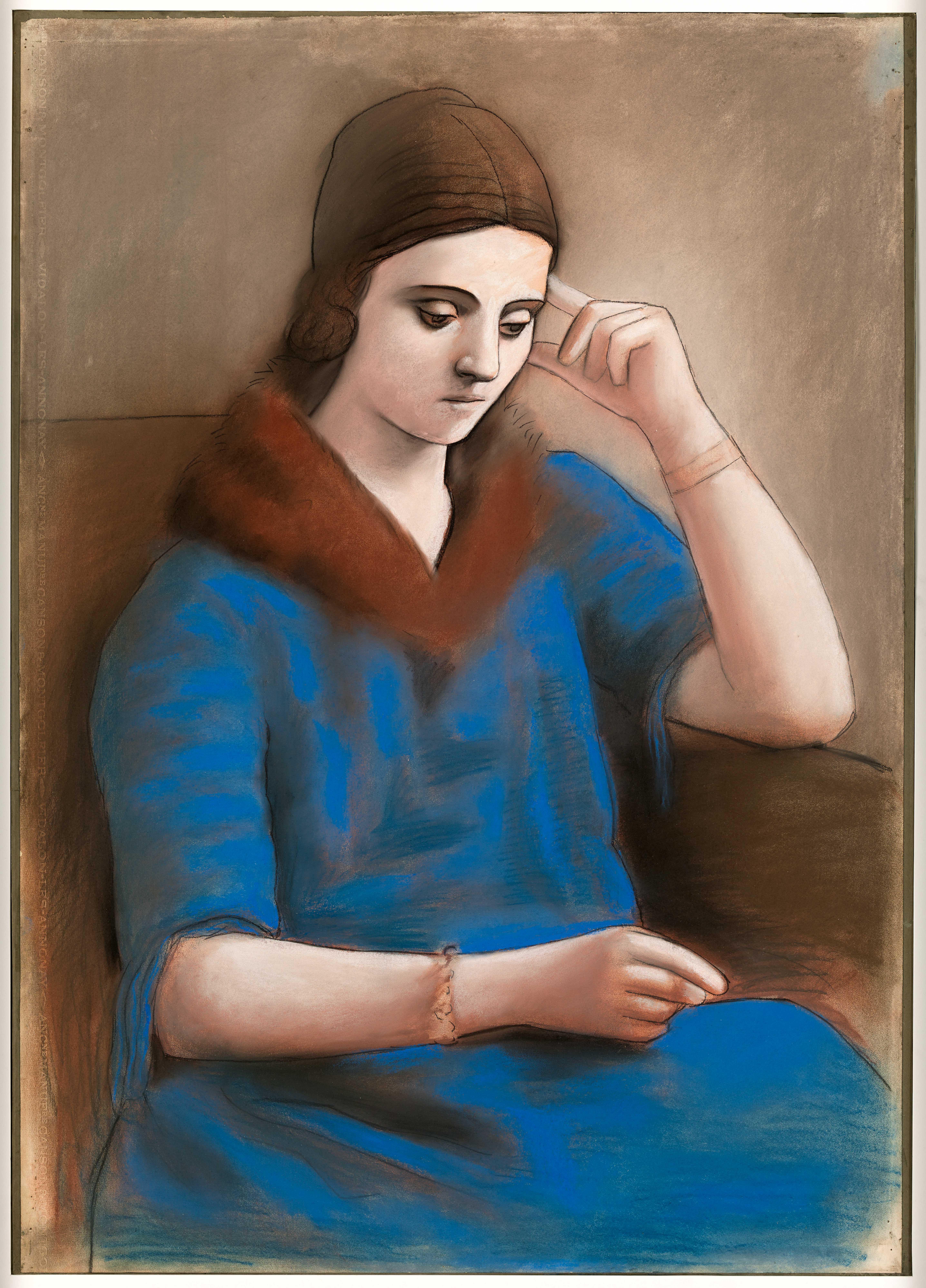 Пабло Пикассо. Задумчивая Ольга. Париж, зима 1923. Национальный музей Пикассо, Париж