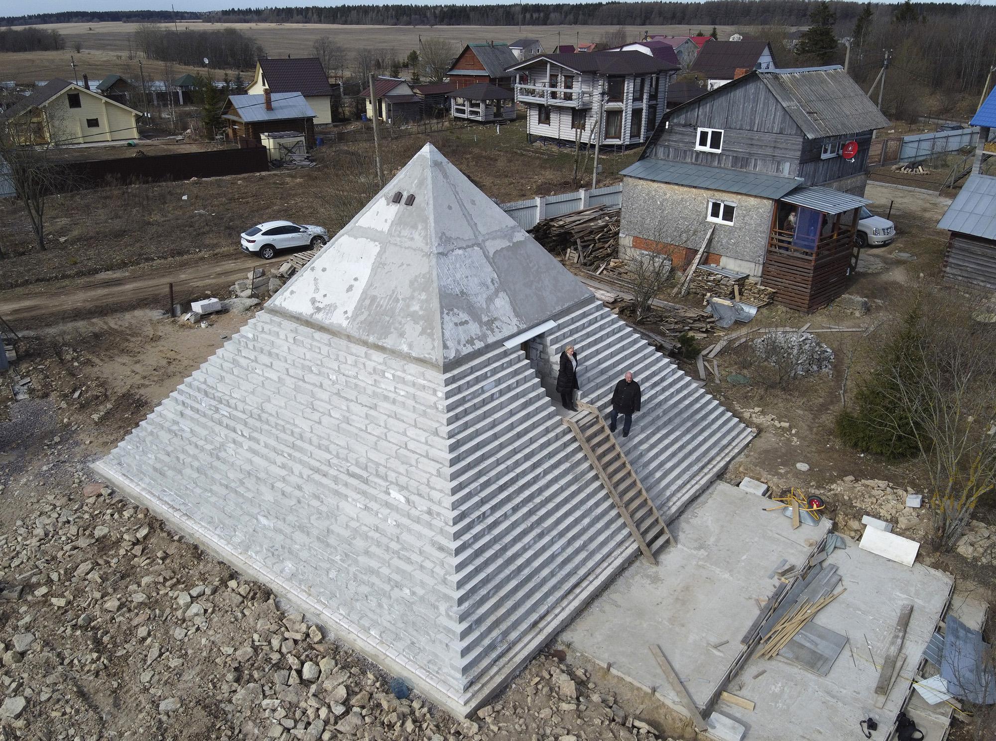 Копия пирамиды Хеопса вПетербурге