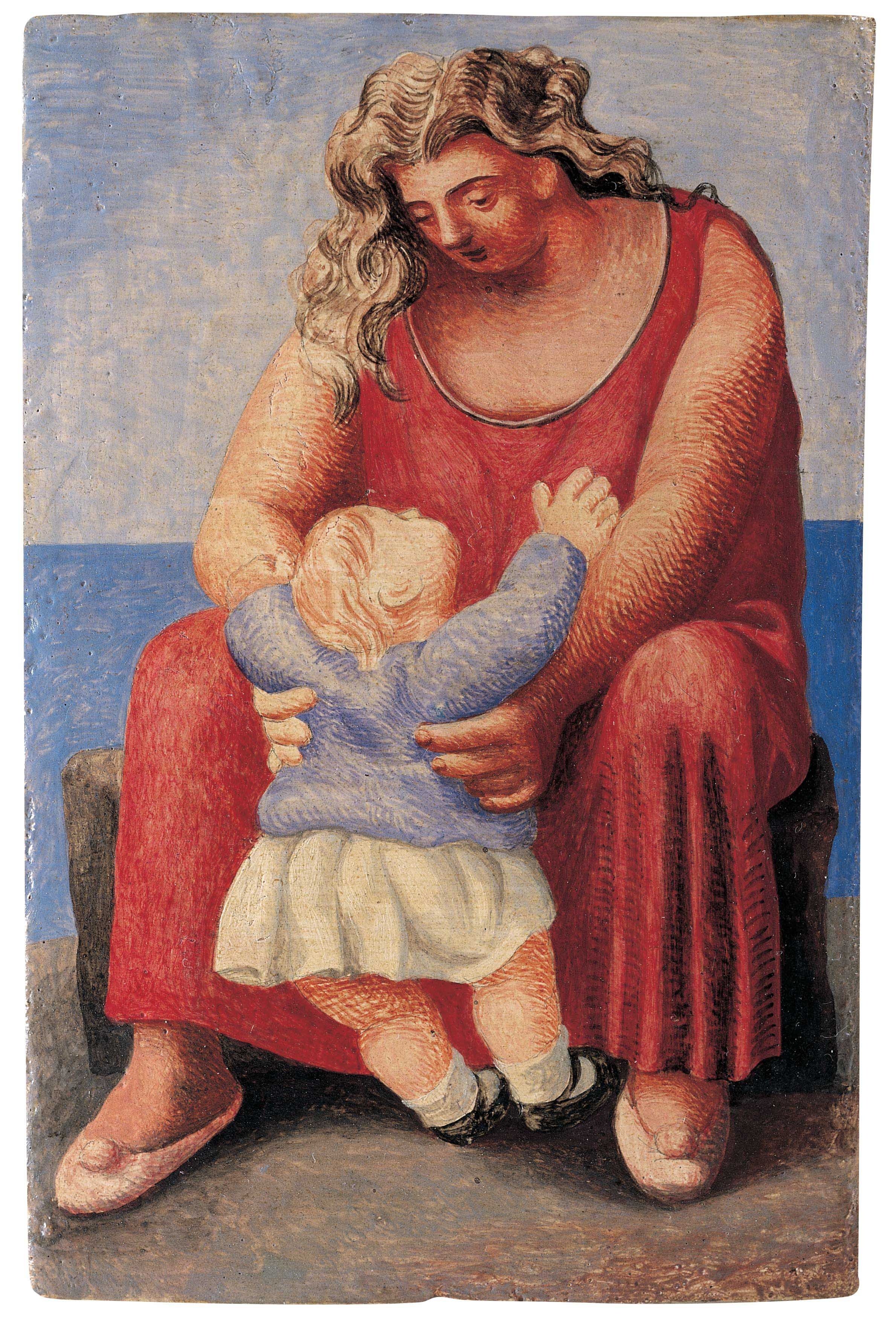 Пабло Пикассо. Мать идитя. Париж, осень 1921.Фонд поддержки искусства Альмины иБернара Руис-Пикассо, Мадрид
