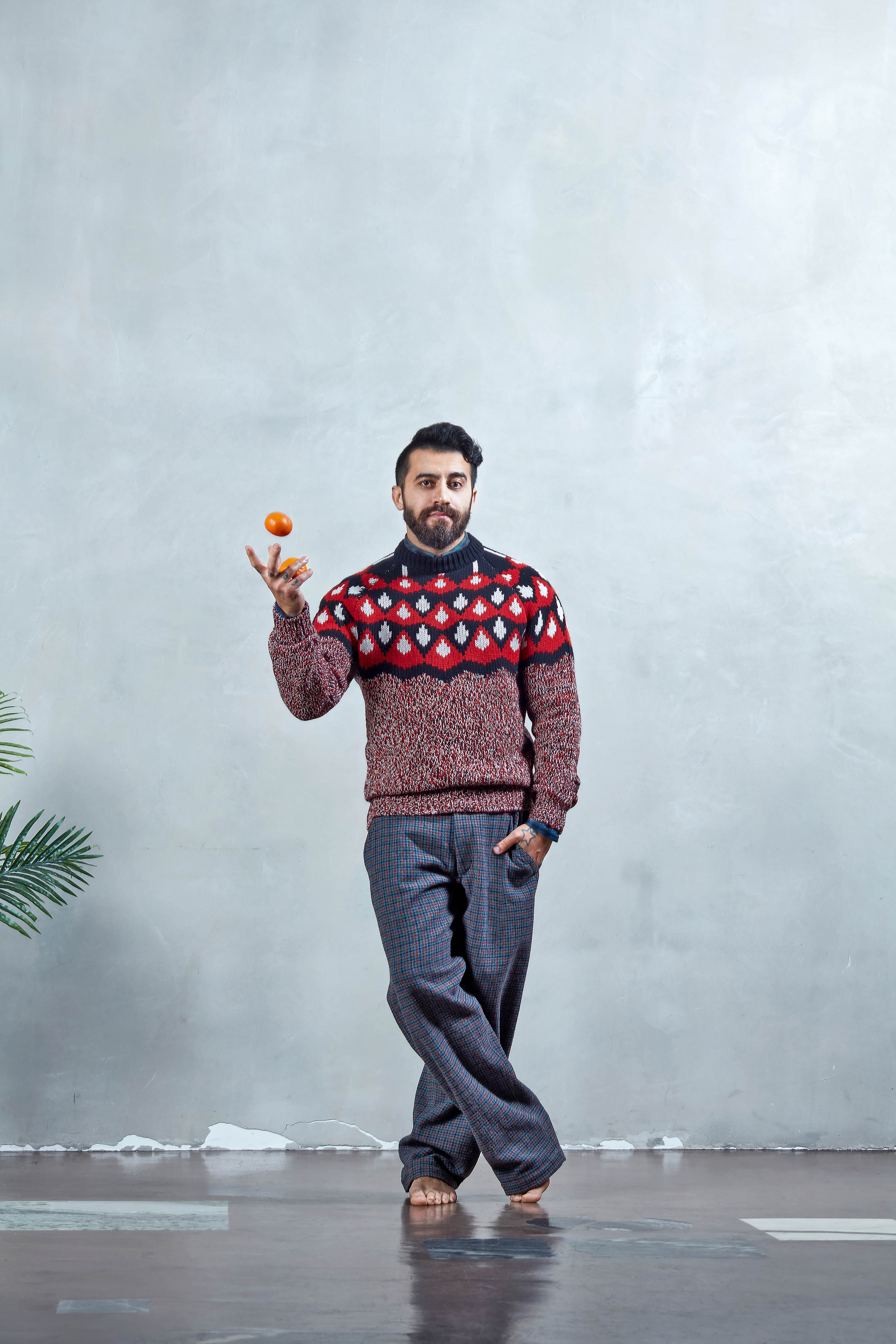 Рубашка Paul Smith, джемпер Prada, брюки Comme des Garçons