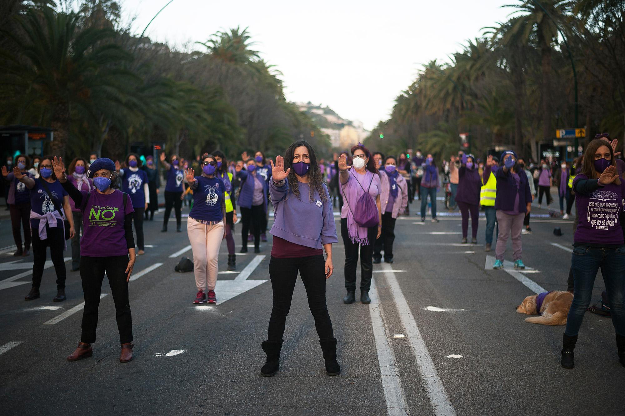 Перформанс против сексуального насилия вМалаге, Испания