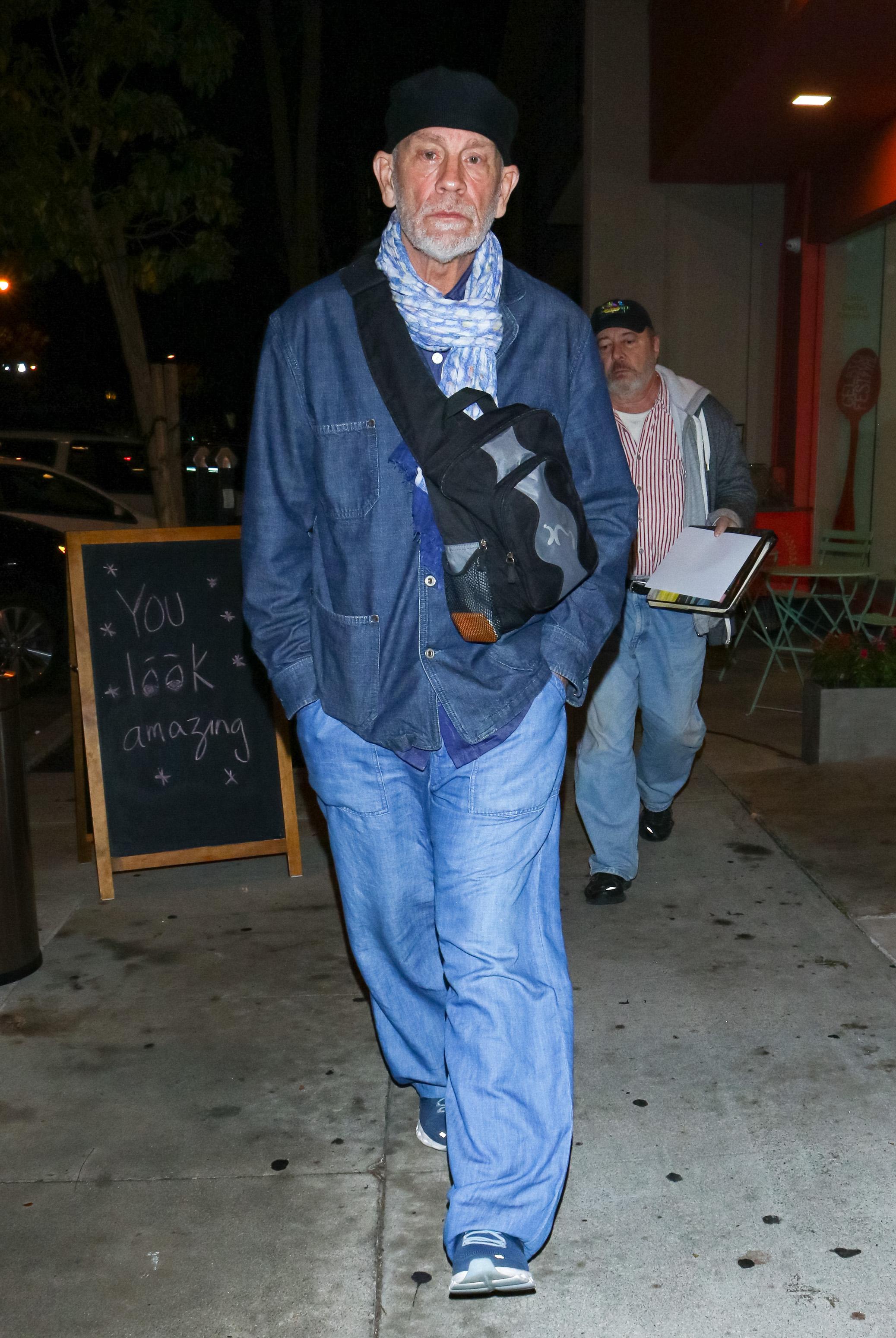 LOS ANGELES, CA - NOVEMBER 16: John Malkovich is seen on November 16, 2019 in Los Angeles, California. (Photo by