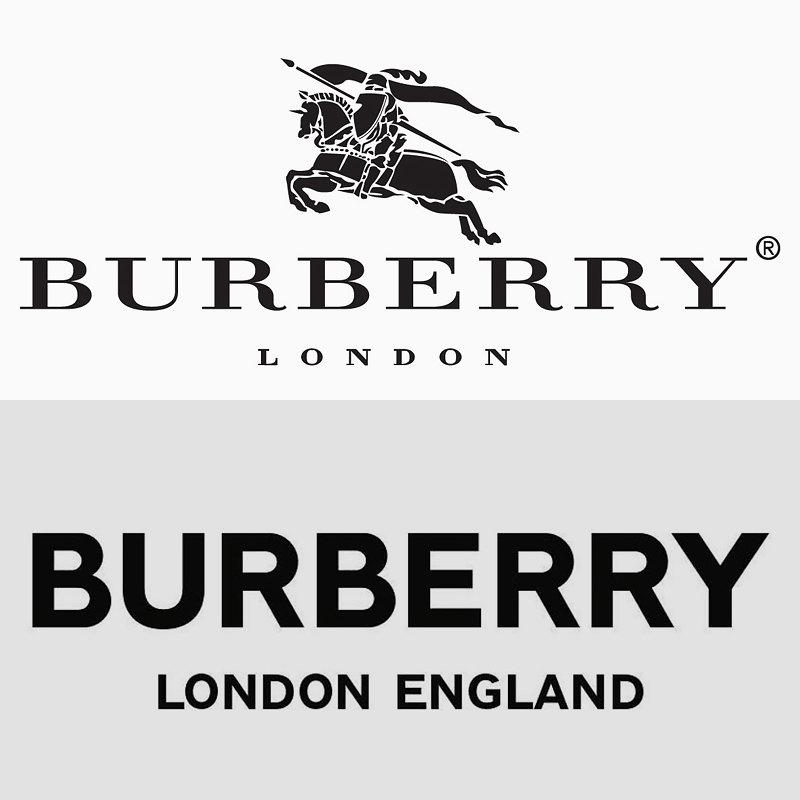 Старый иновый логотипы Burberry