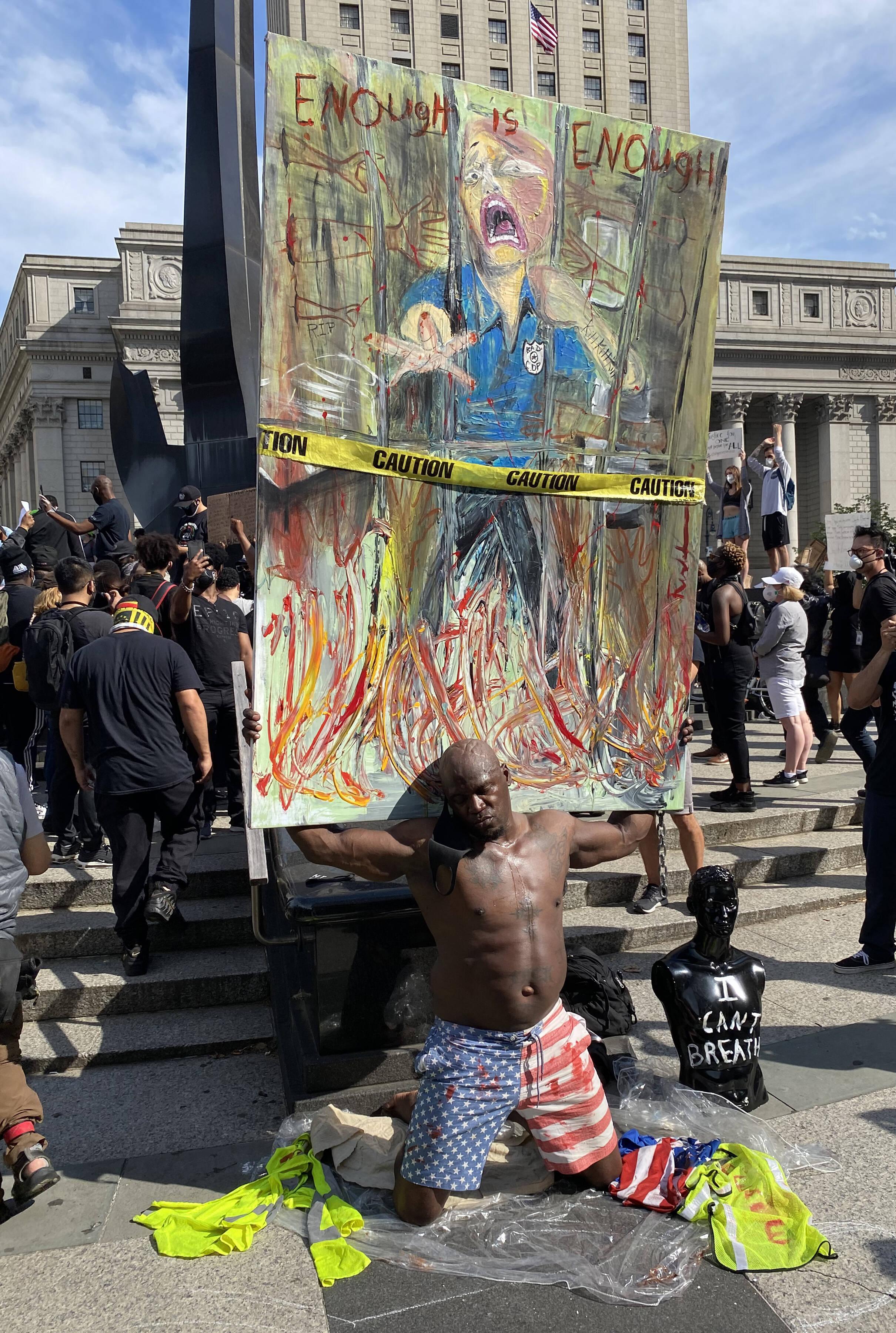 Демонстранты вНью-Йорке