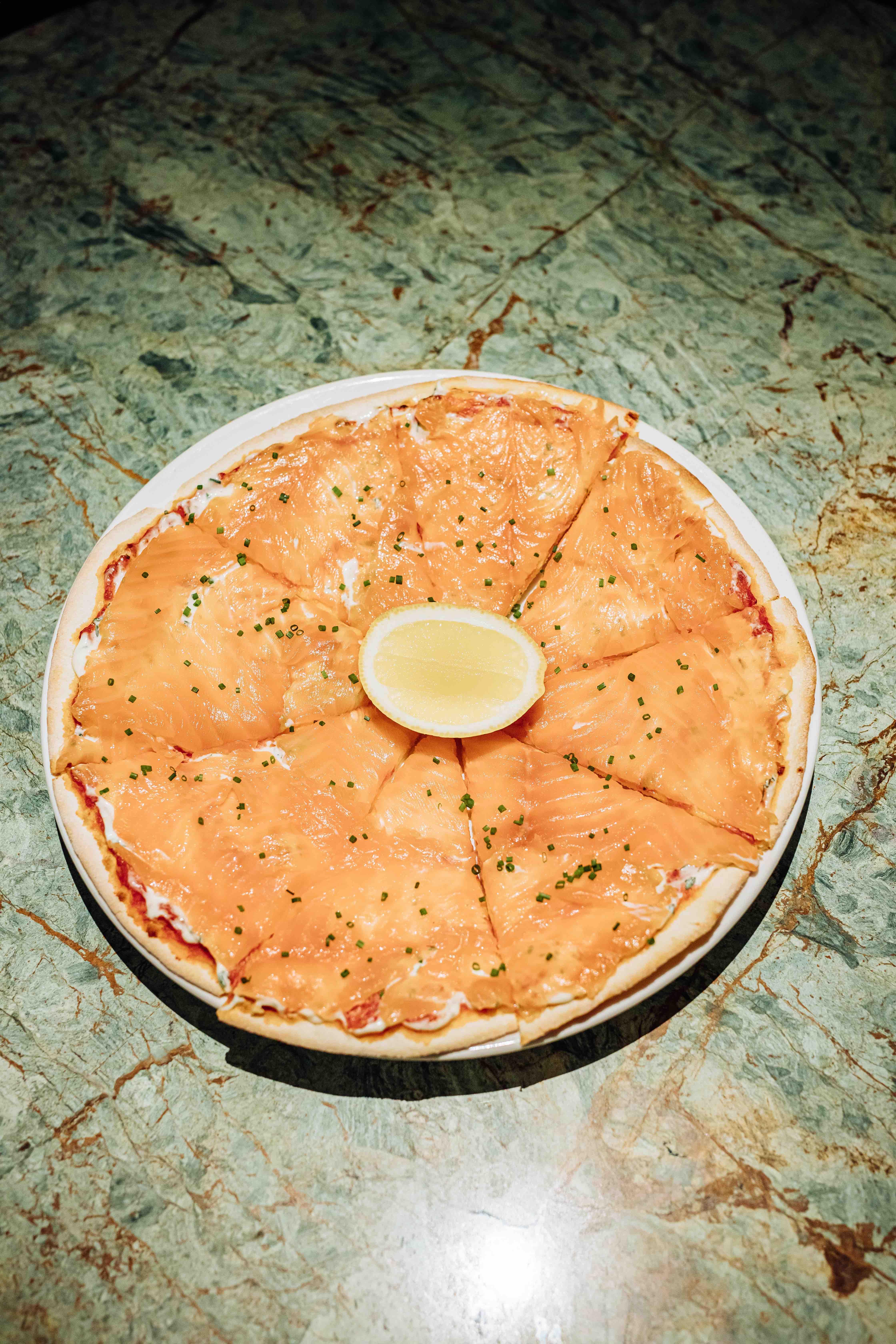 Пицца слососем