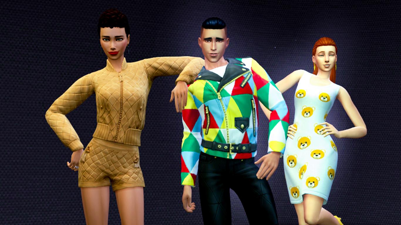 Одежда Moschino вигре Sims